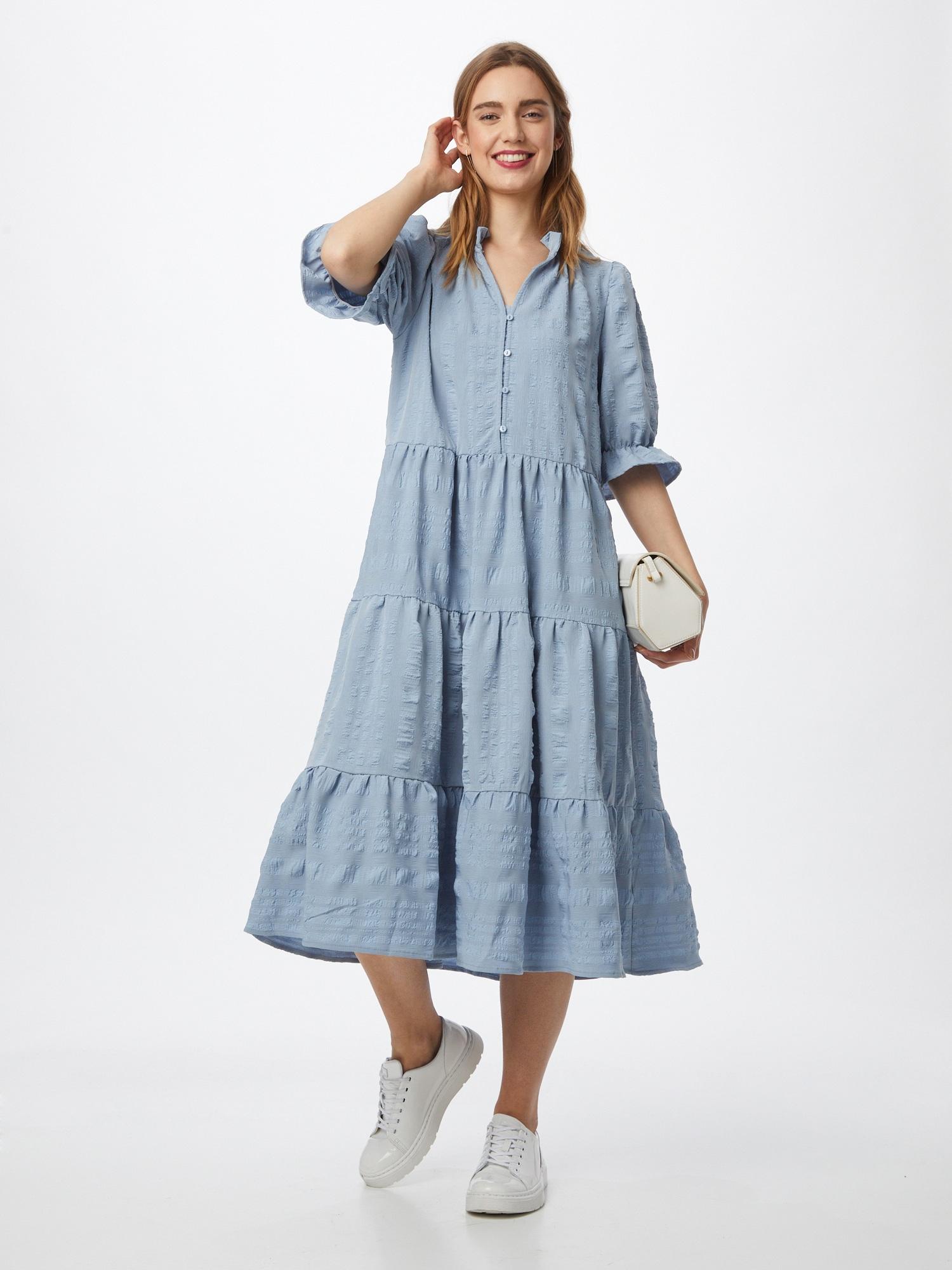 minus Košeľové šaty 'Bergitta'  dymovo modrá.