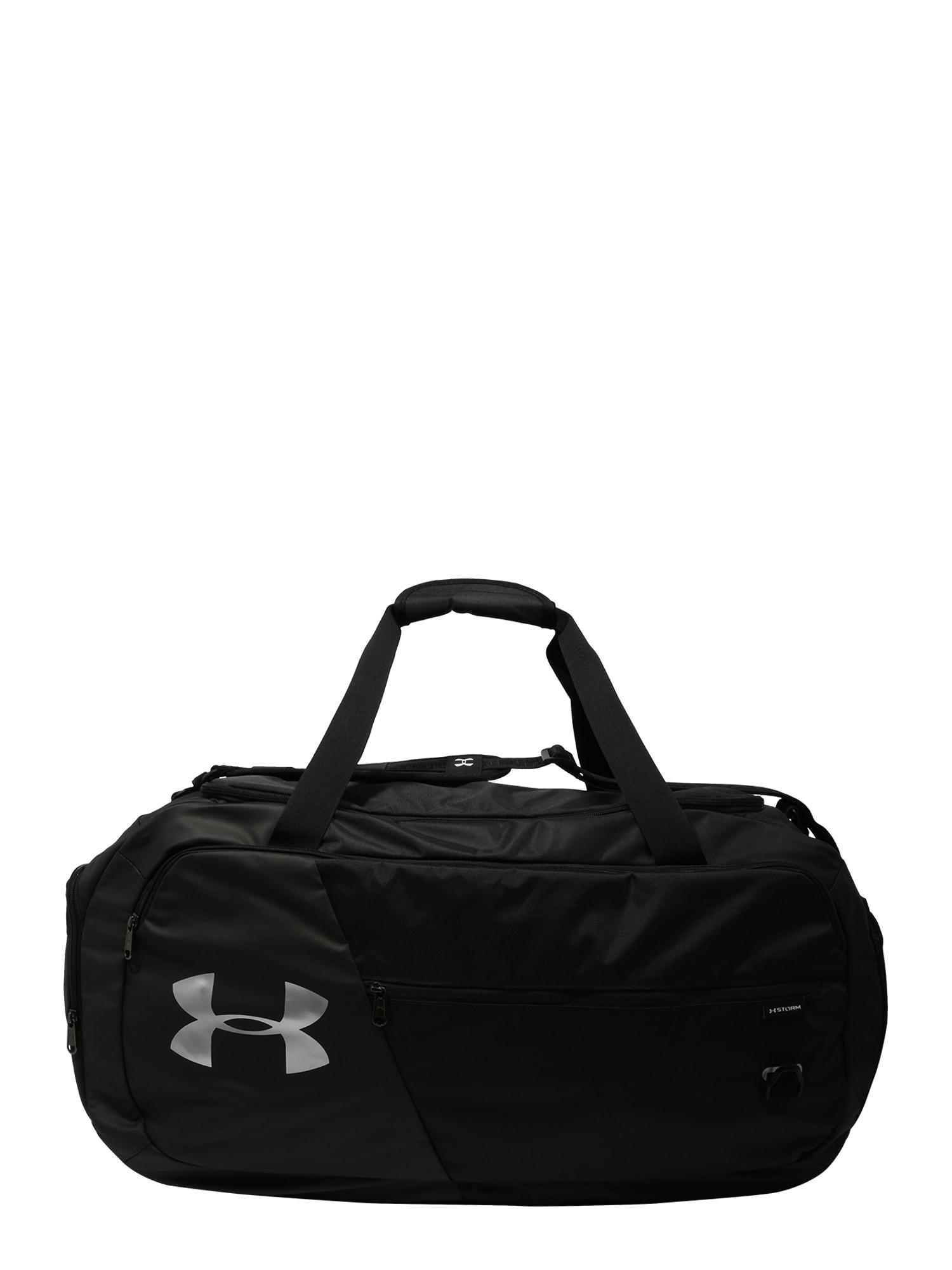 UNDER ARMOUR Sportinis krepšys 'Undeniable 4.0' juoda / balta