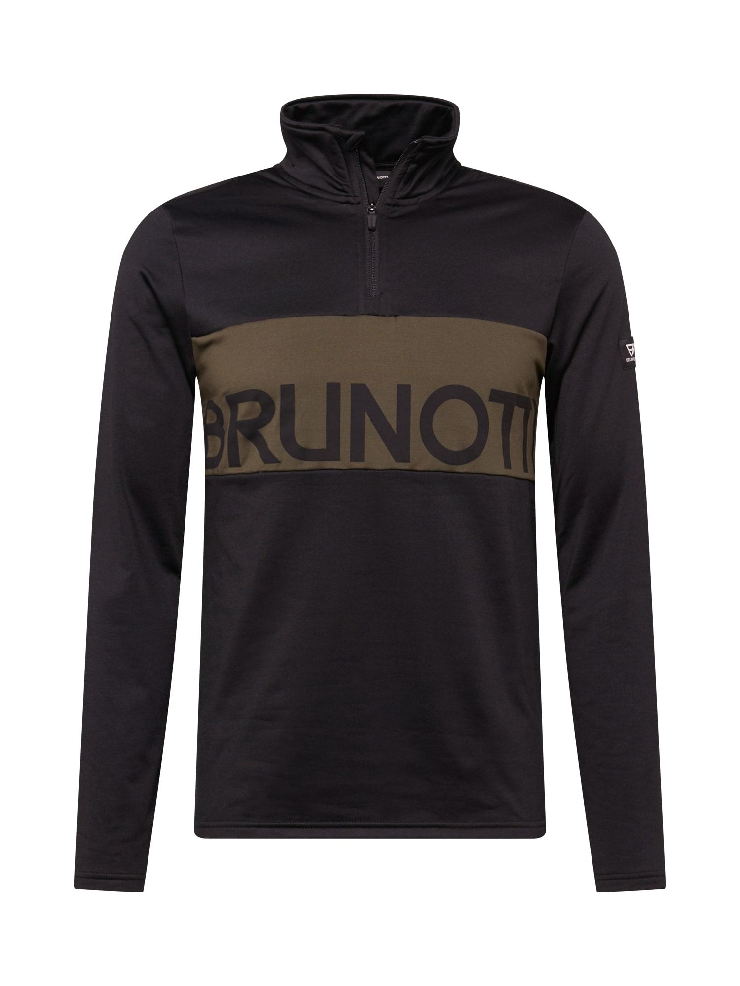BRUNOTTI Sportinis megztinis juoda / ruda