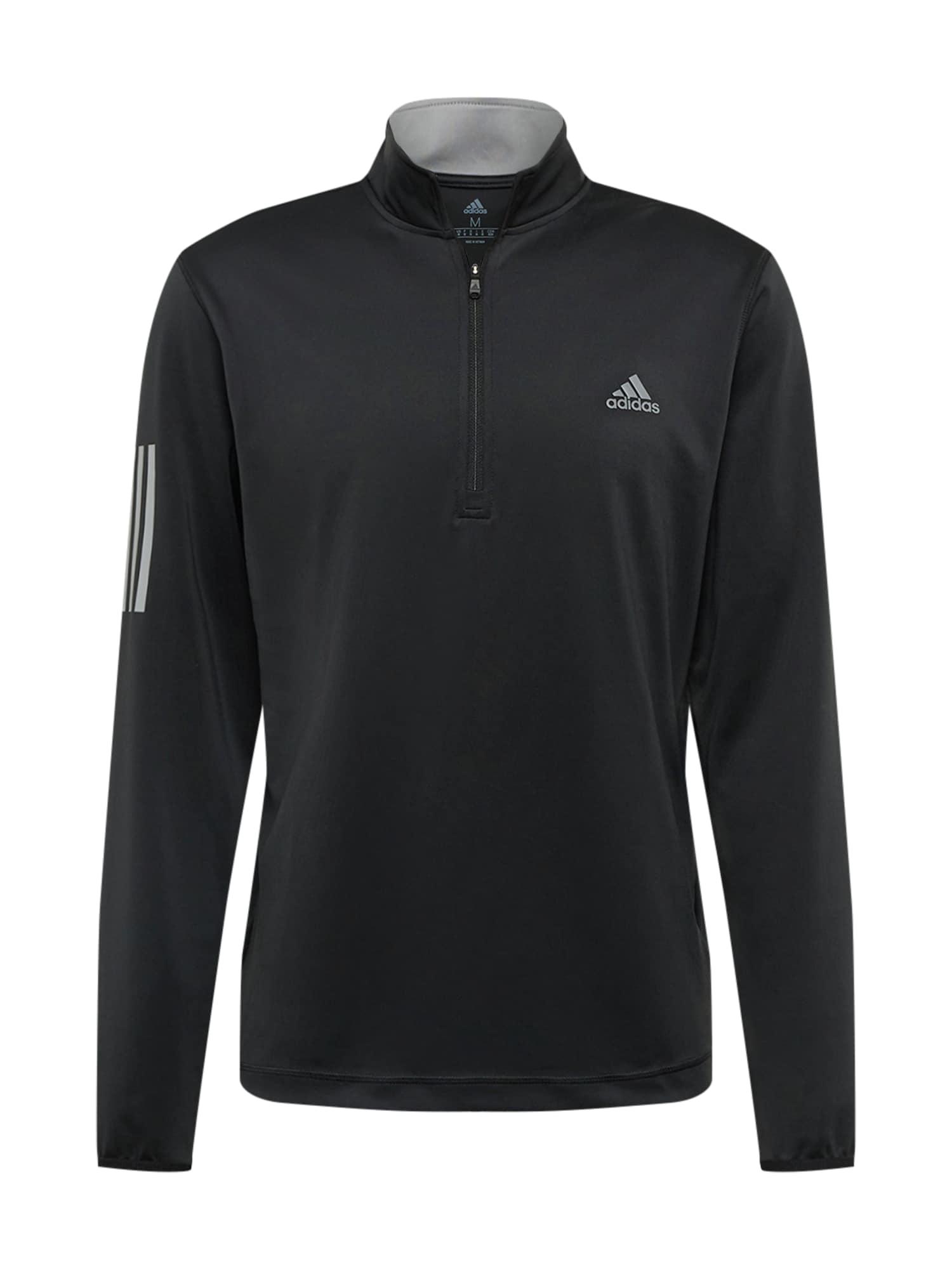 adidas Golf Sportovní mikina  šedá / černá