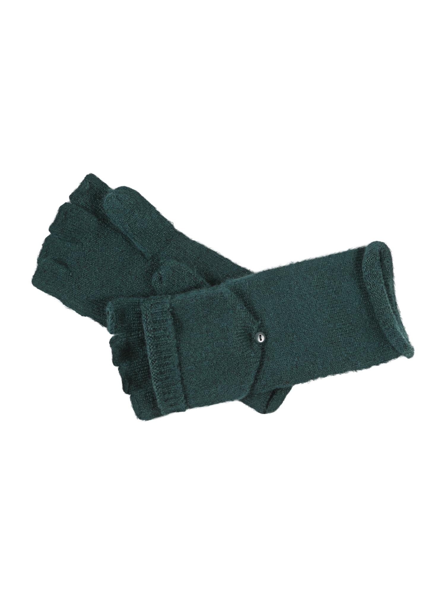 ESPRIT Trumpos pirštinės be pirštų galų tamsiai žalia