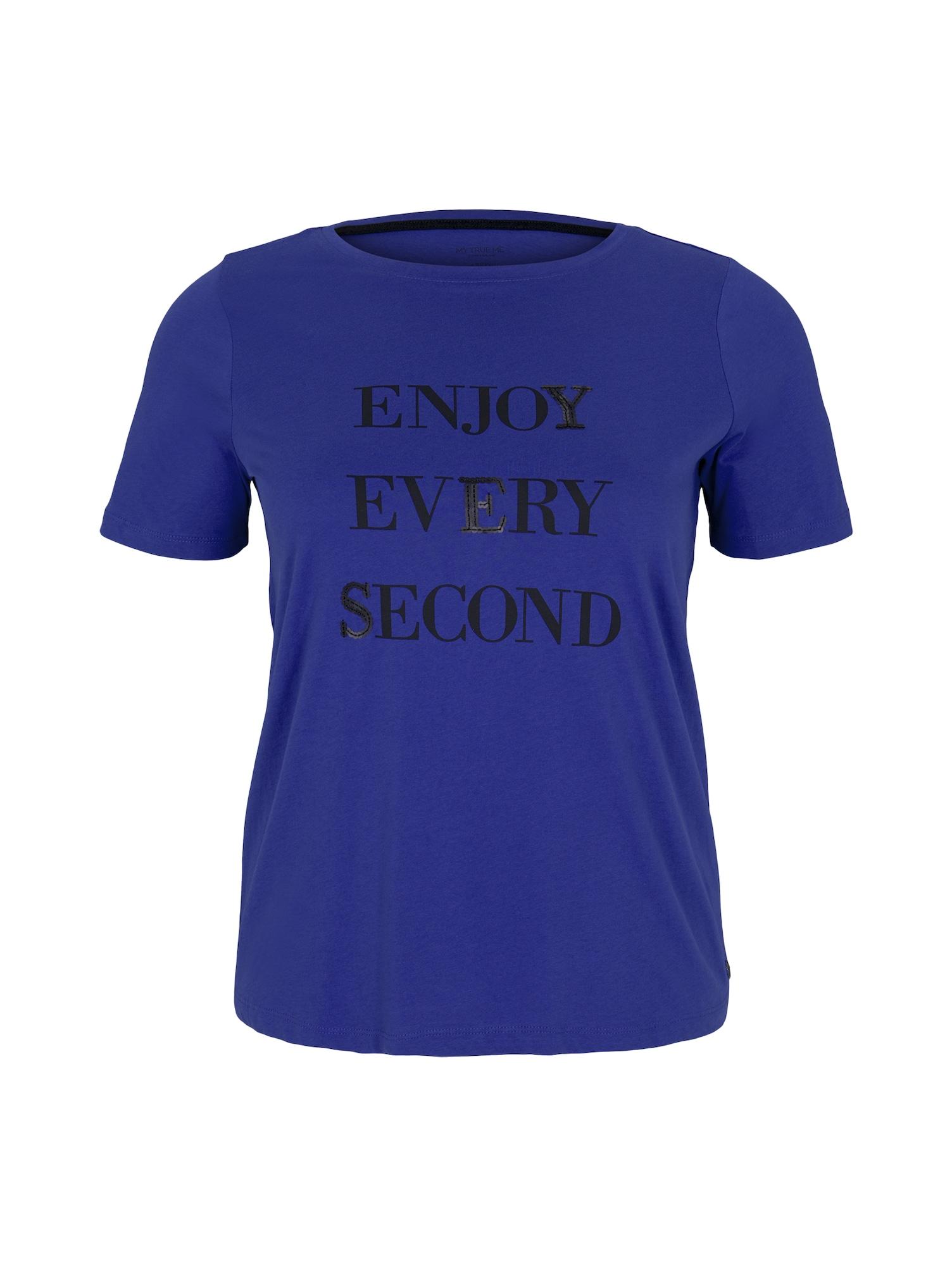 MY TRUE ME Marškinėliai mėlyna / juoda