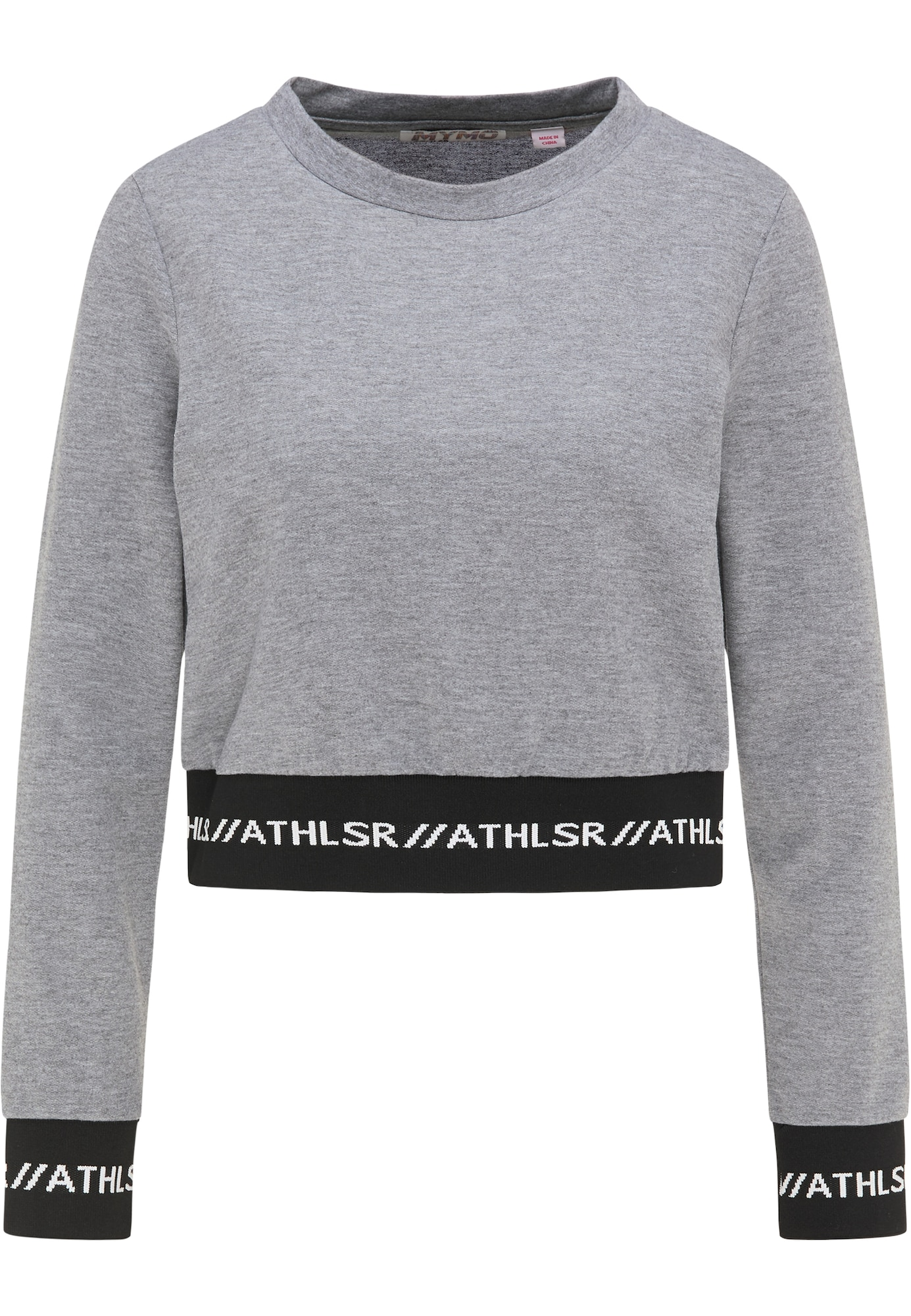 myMo ATHLSR Sportinio tipo megztinis pilka / juoda / balta