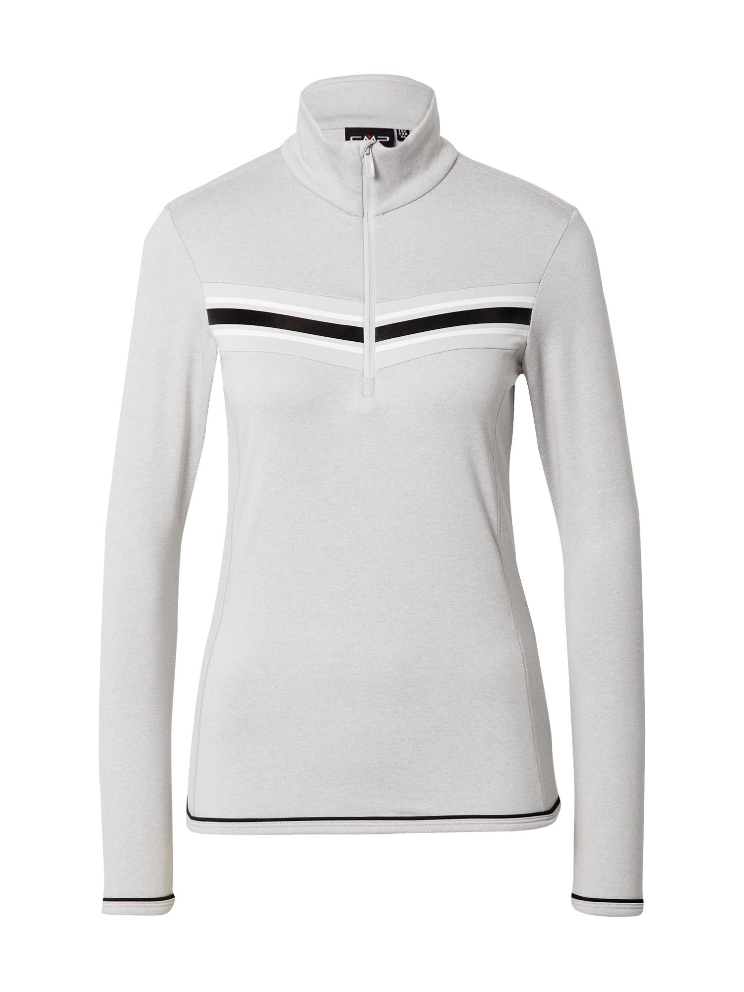 CMP Sportinio tipo megztinis šviesiai pilka / juoda / balta