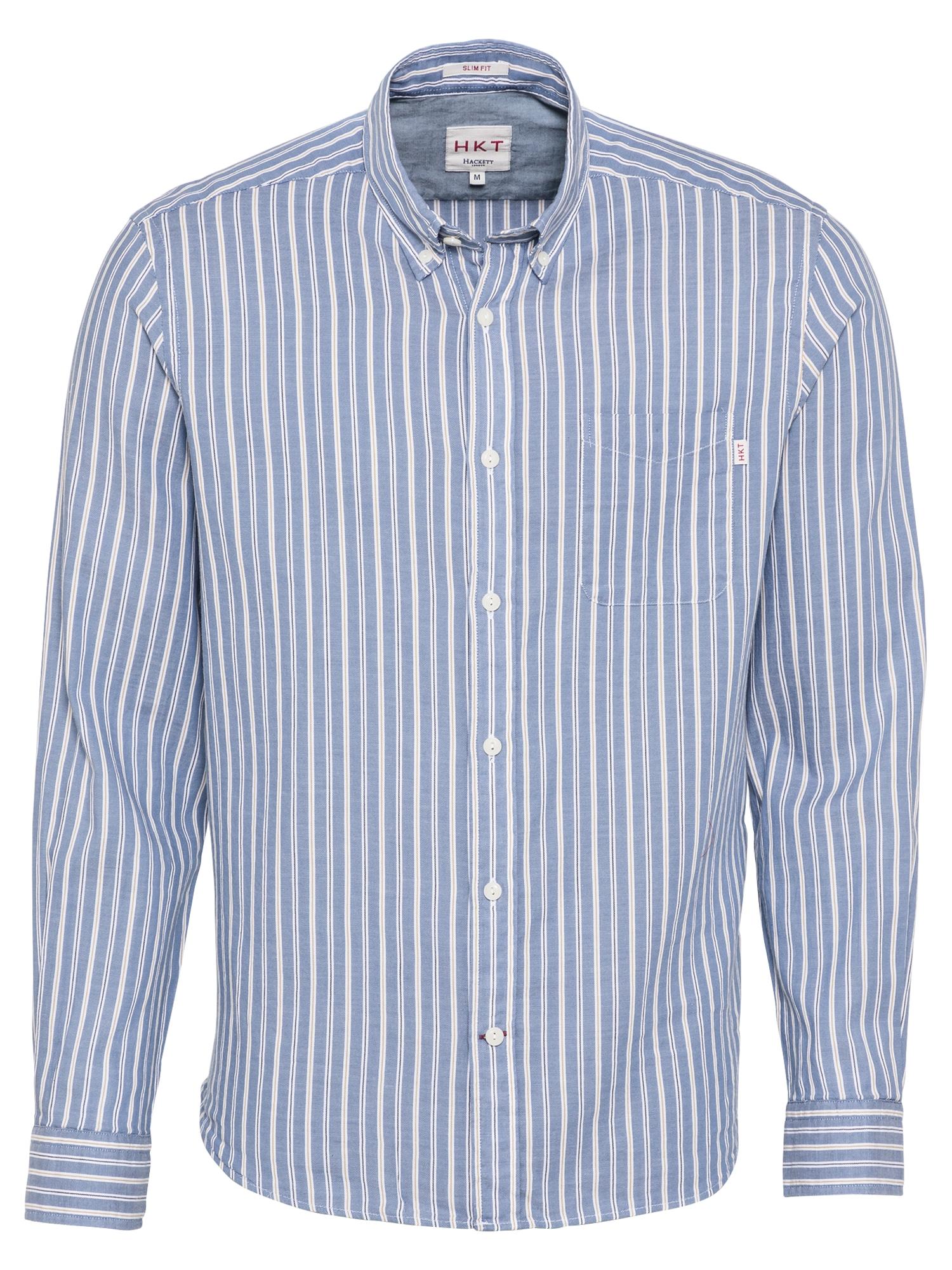 HKT by HACKETT Marškiniai balta / mėlyna