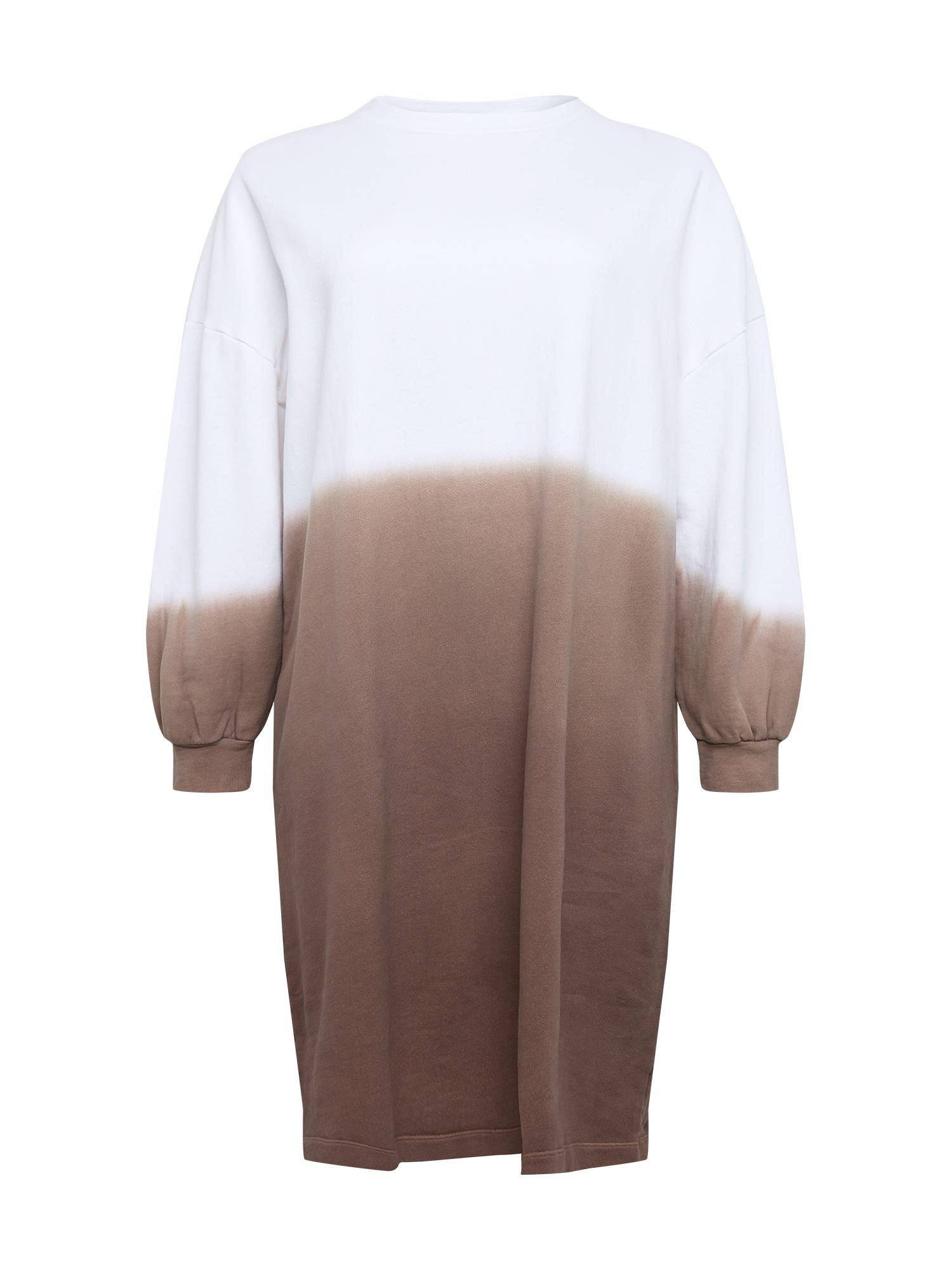 NU-IN Plus Suknelė balta / ruda