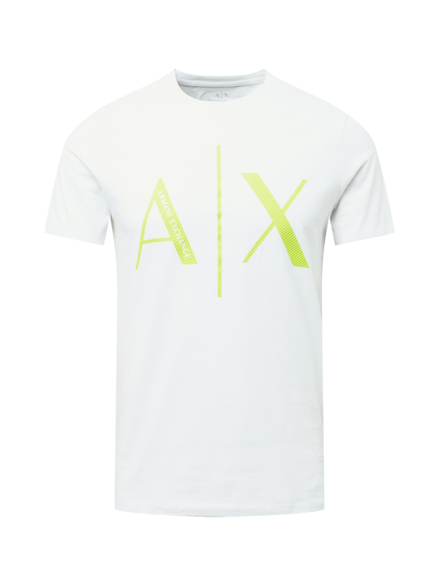 ARMANI EXCHANGE Marškinėliai balta / obuolių spalva
