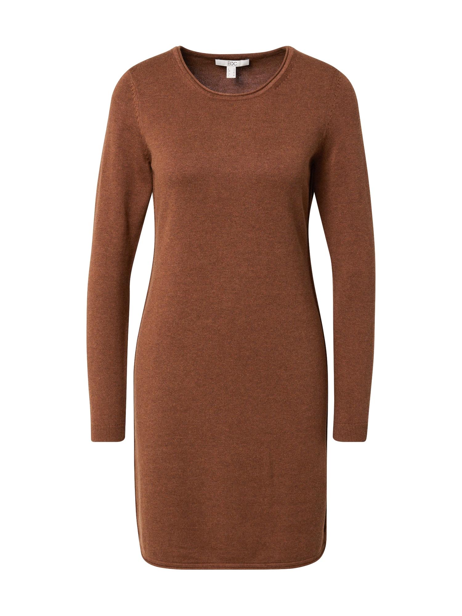 EDC BY ESPRIT Megzta suknelė ruda