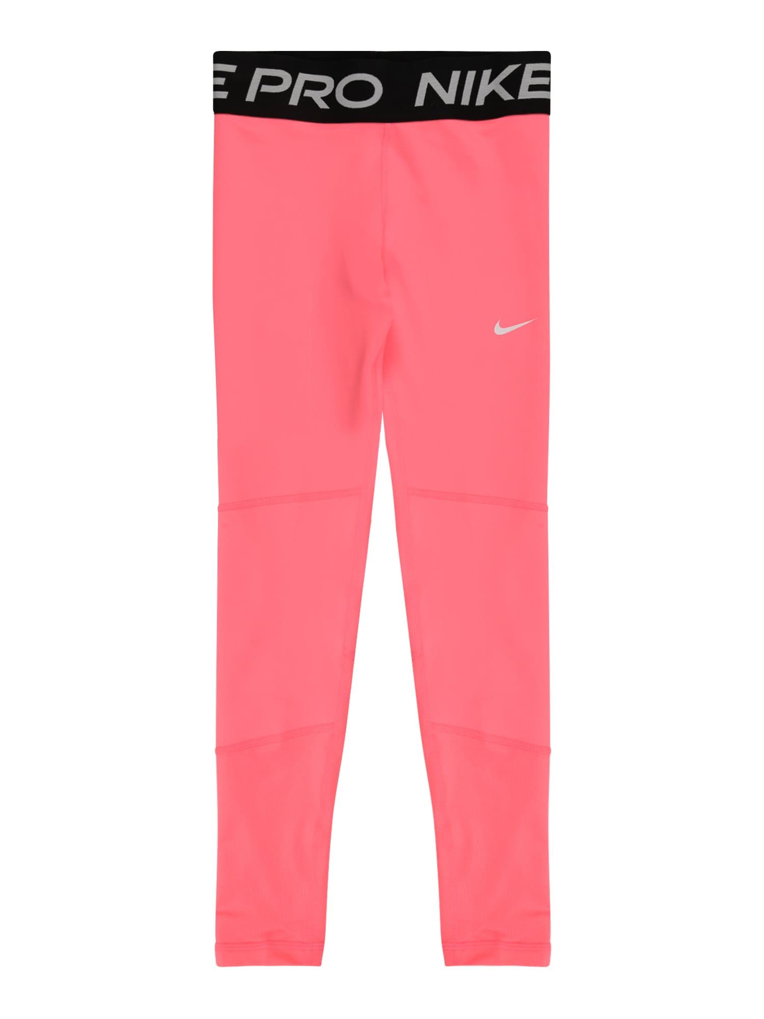 NIKE Sportinės kelnės šviesiai rožinė / juoda / pilka