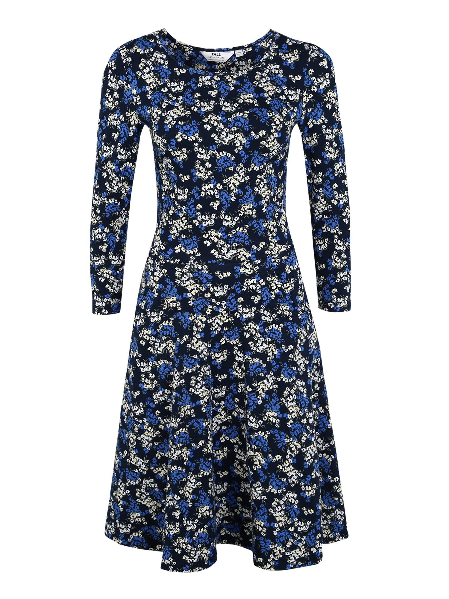 Dorothy Perkins (Tall) Suknelė tamsiai mėlyna / mėlyna / alyvuogių spalva / balta / šviesiai geltona