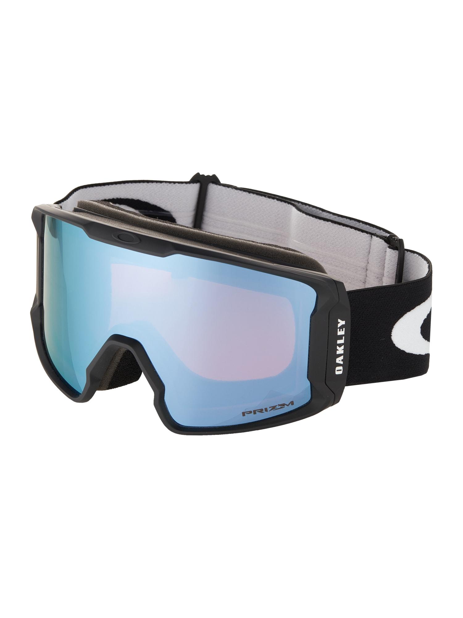 OAKLEY Sportiniai akiniai 'LINE MINER' juoda / šviesiai mėlyna / balta