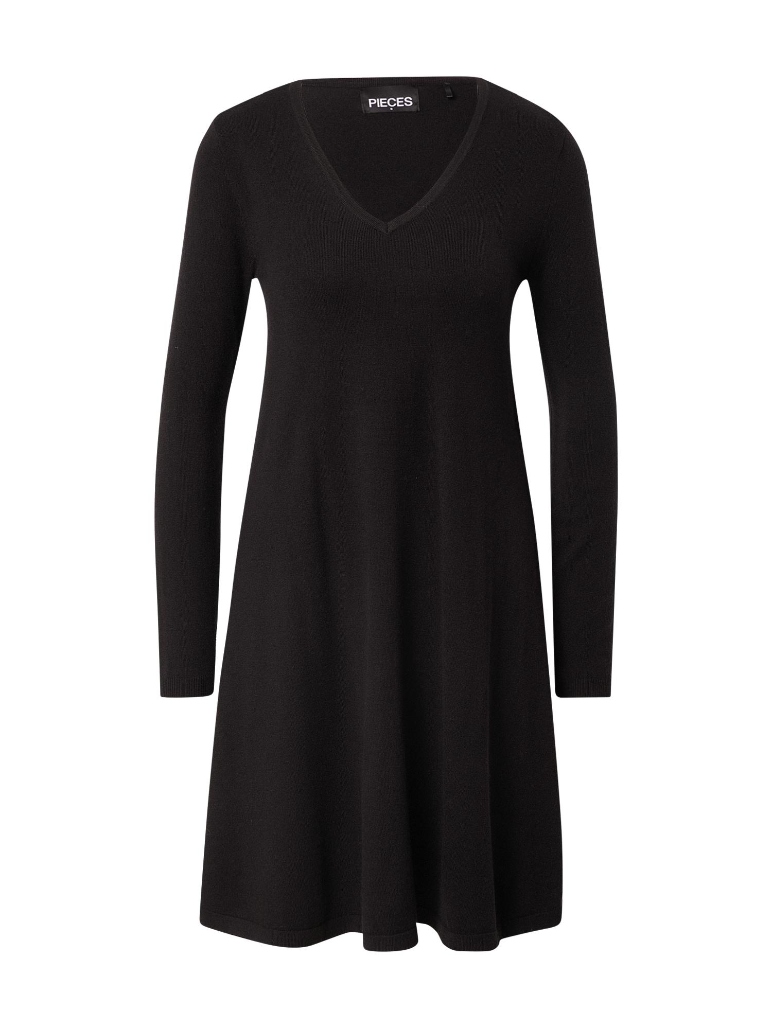 PIECES Šaty  černá