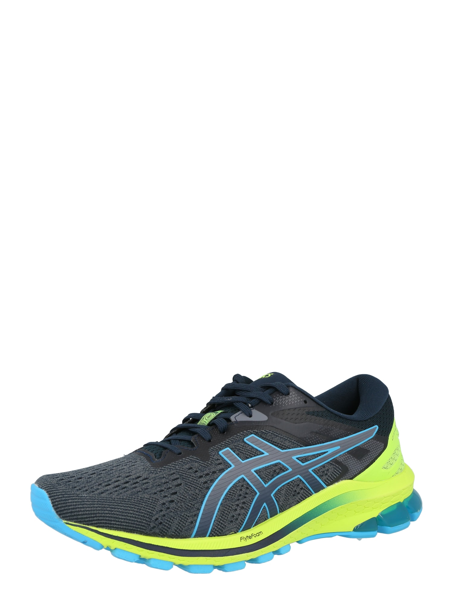ASICS Bėgimo batai melsvai pilka / šviesiai mėlyna / neoninė žalia / pilka
