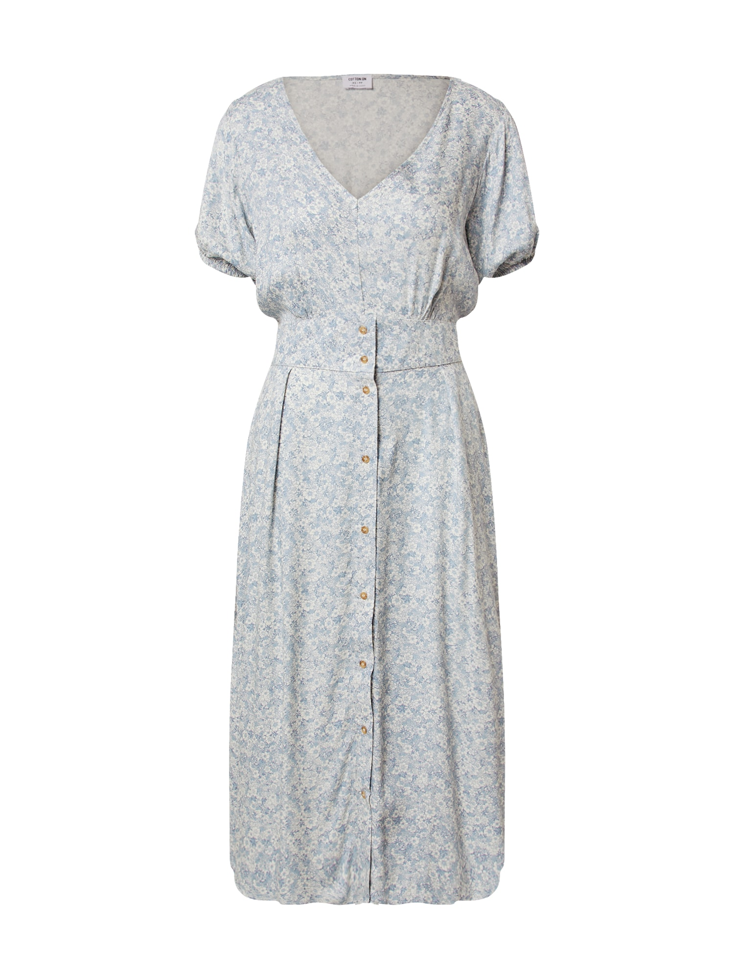 Cotton On Šaty ' Chloe'  modrá / bílá