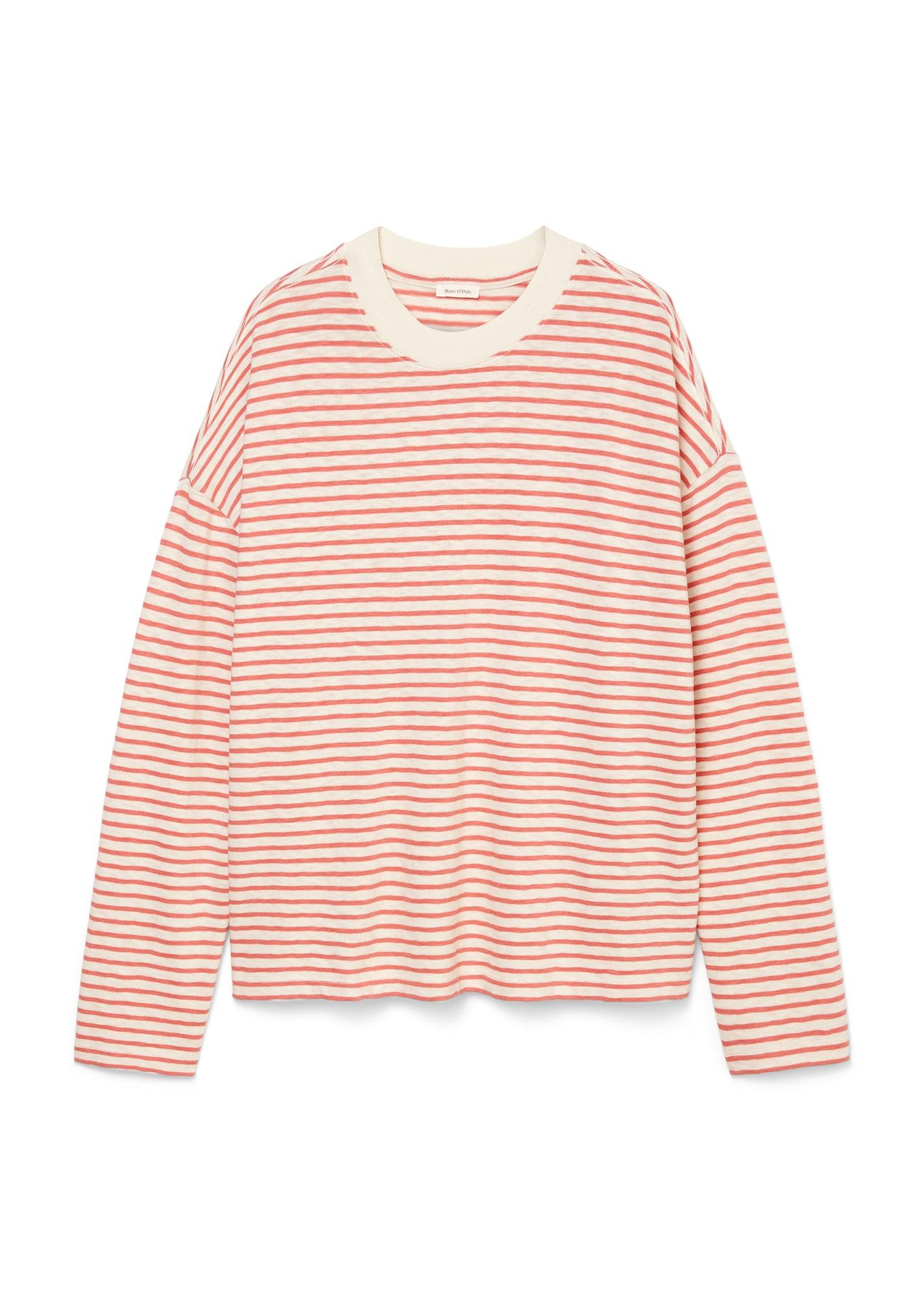 Marc O'Polo Tričko  pink / bílá