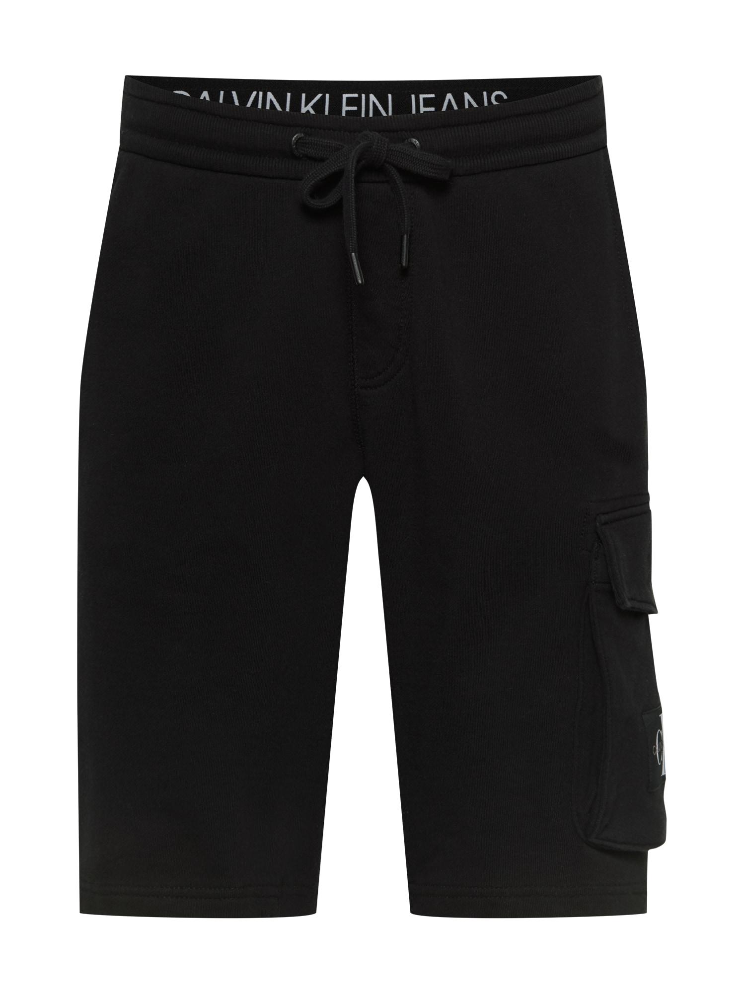 Calvin Klein Jeans Laisvo stiliaus kelnės juoda