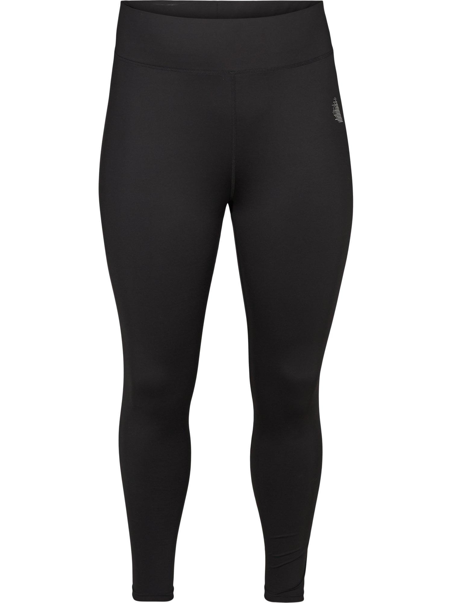Active by Zizzi Sportovní kalhoty 'Abasic'  černá / bílá