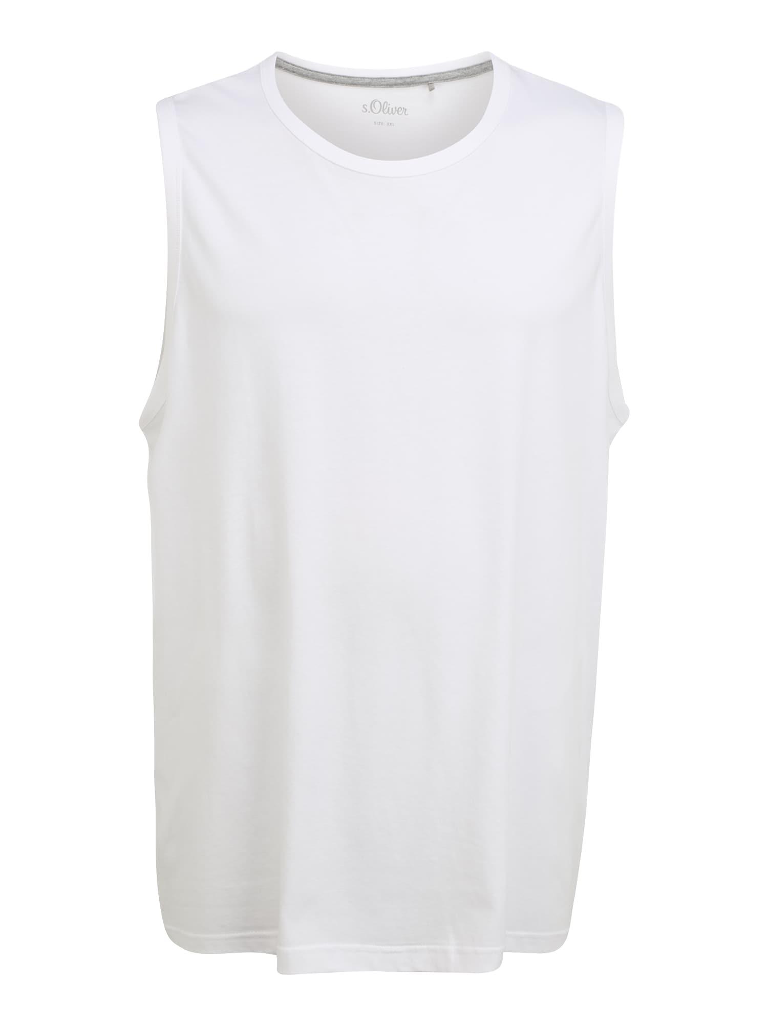 s.Oliver Red Label Big & Tall Marškinėliai balta
