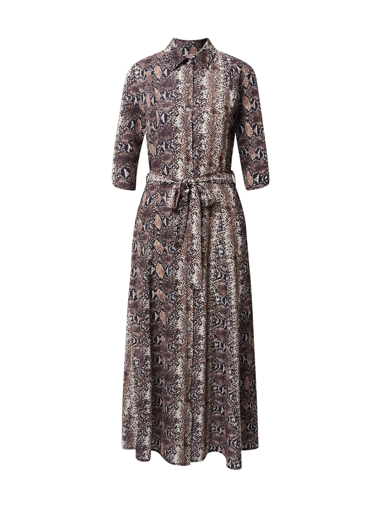 Cartoon Palaidinės tipo suknelė ruda / tamsiai ruda / juoda / balta