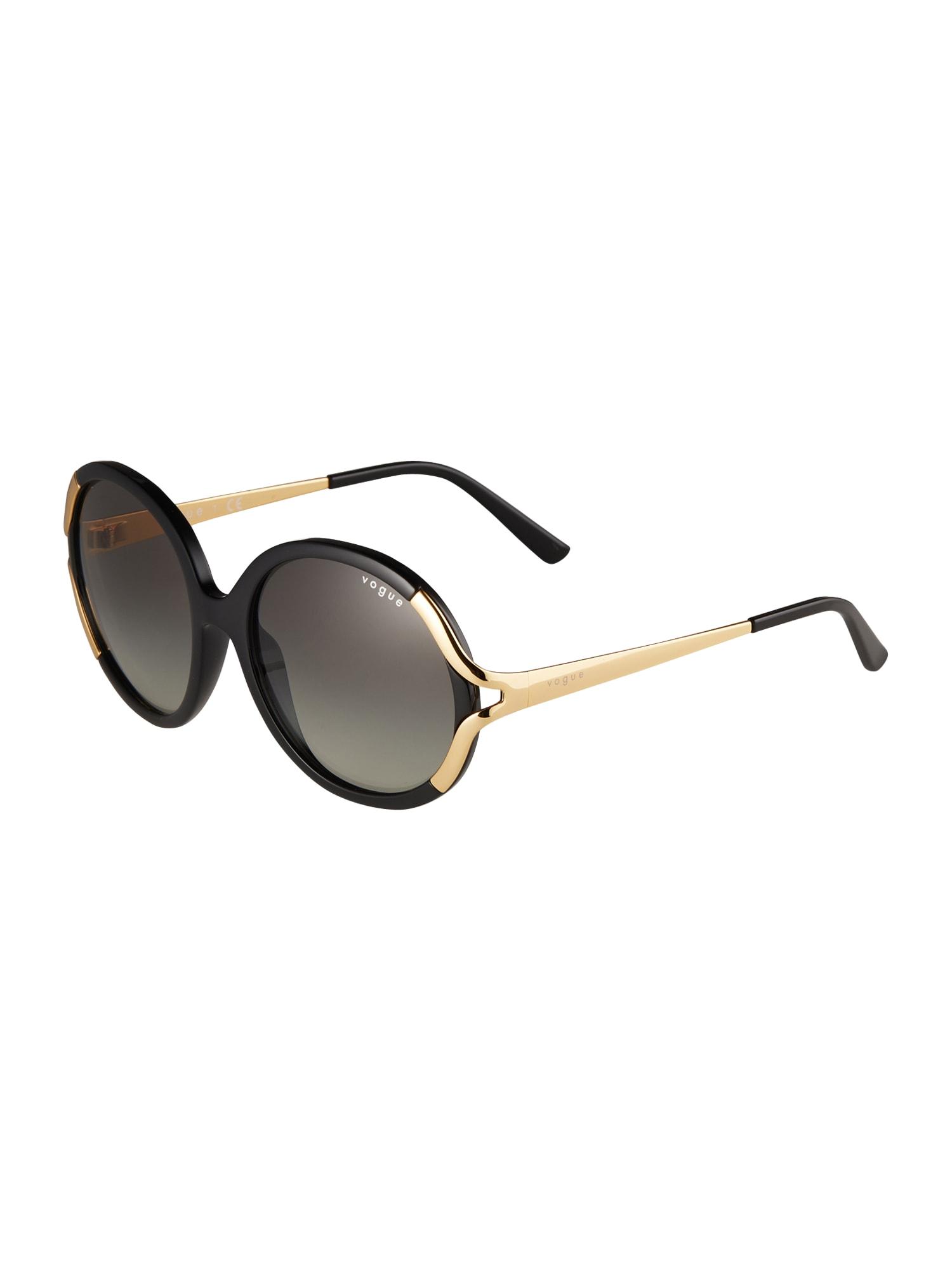 VOGUE Eyewear Akiniai nuo saulės juoda / auksas