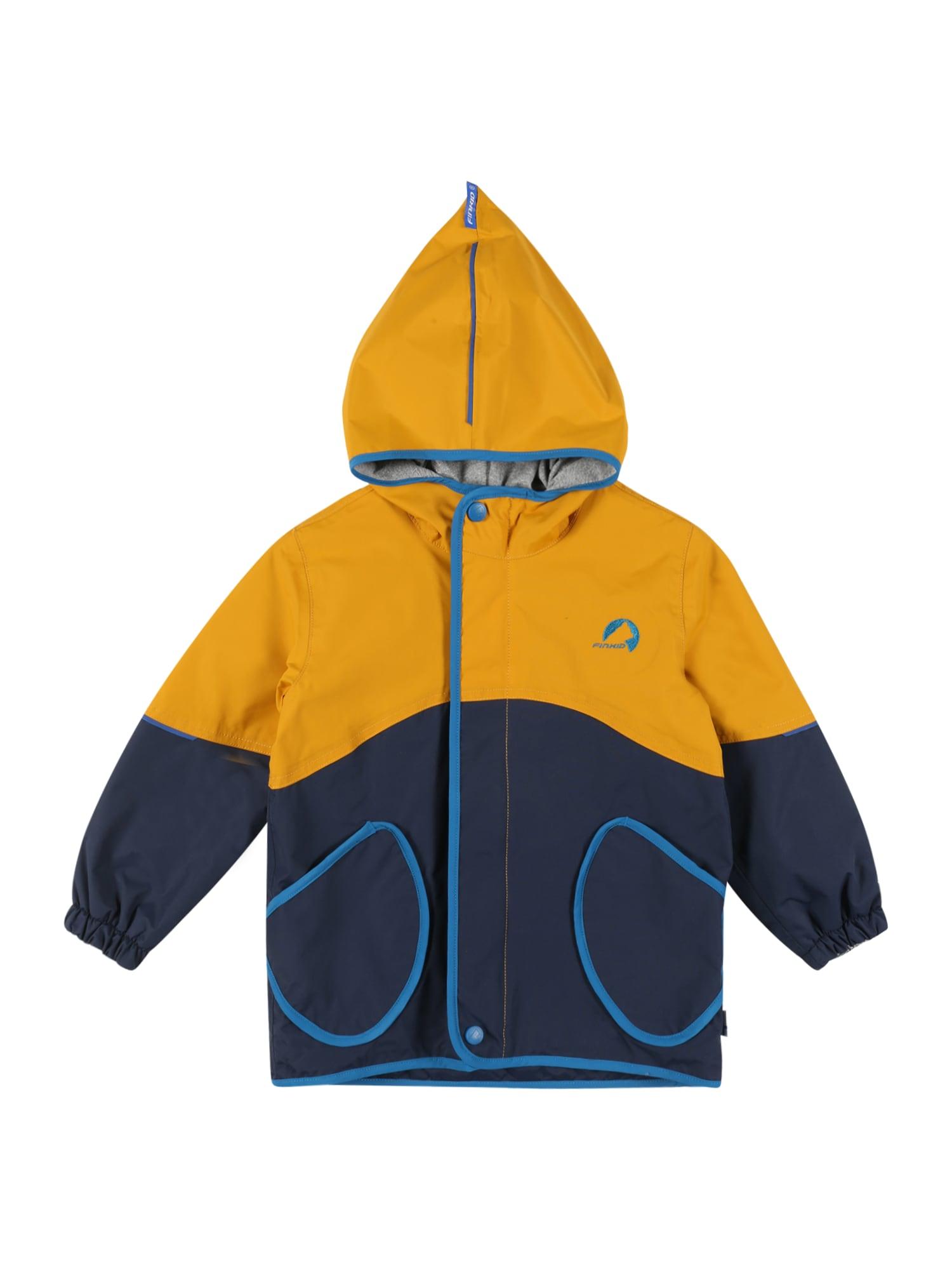 FINKID Demisezoninė striukė 'AARRE' aukso geltonumo spalva / tamsiai mėlyna / mėlyna