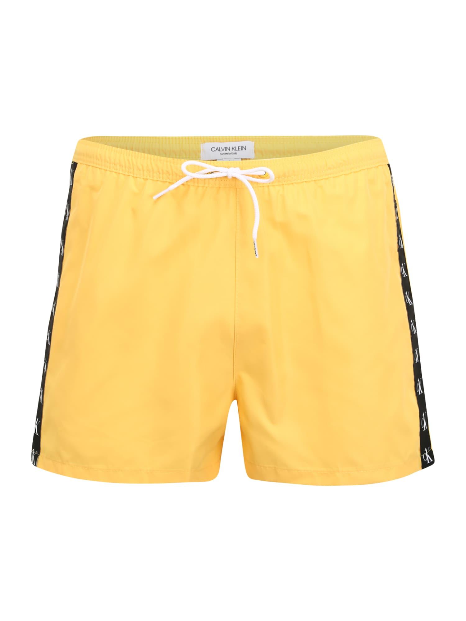 Calvin Klein Swimwear Maudymosi trumpikės geltona / juoda / balta