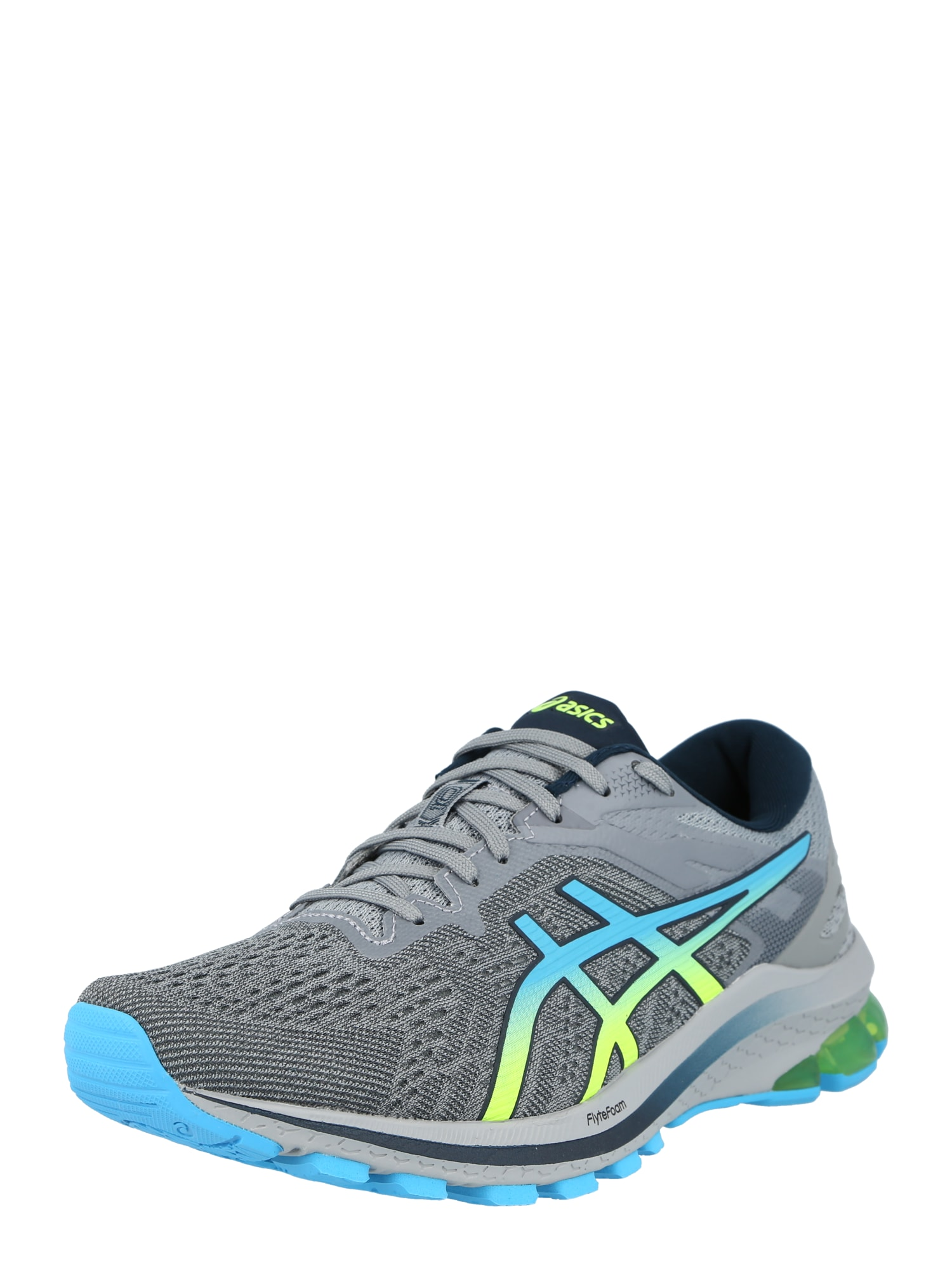 ASICS Bėgimo batai margai juoda / pilka / mėlyna / geltona