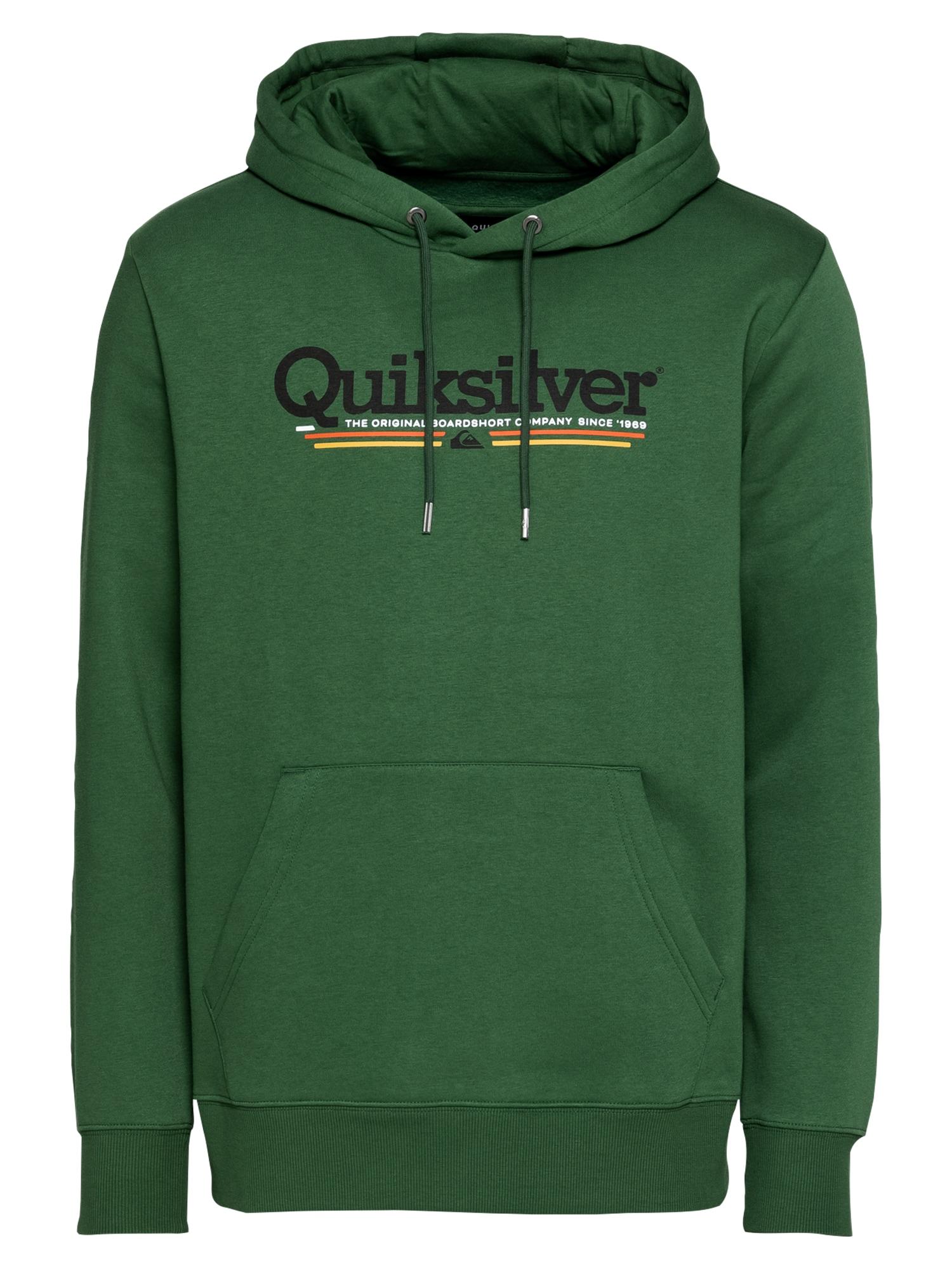 QUIKSILVER Sportinio tipo megztinis margai žalia / juoda / oranžinė / balta / geltona