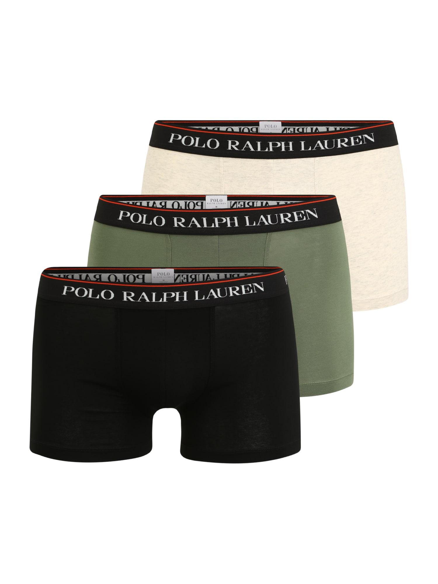 POLO RALPH LAUREN Boxer trumpikės juoda / žalia / smėlio / balta