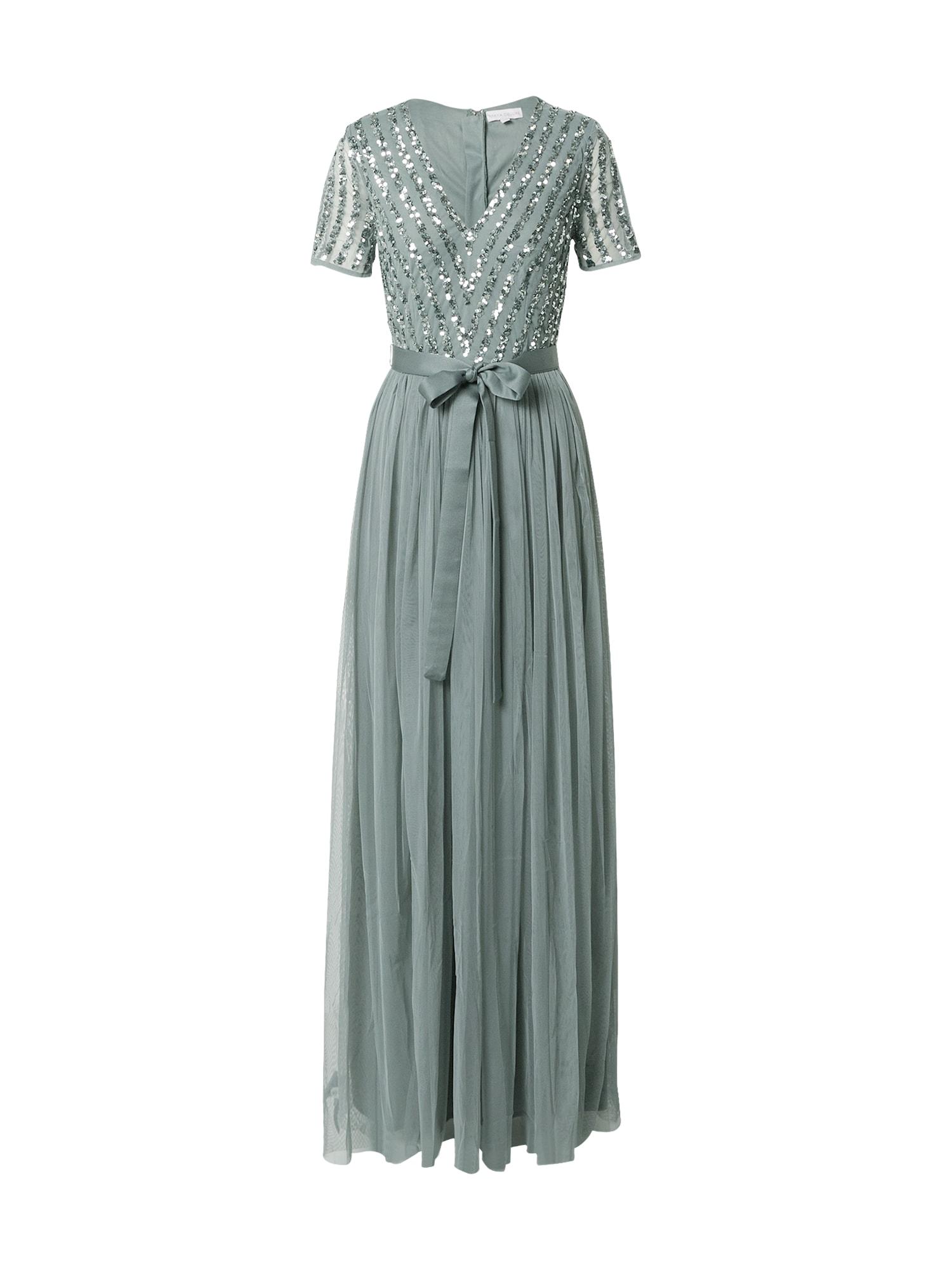 Maya Deluxe Vakarinė suknelė šviesiai žalia / sidabrinė