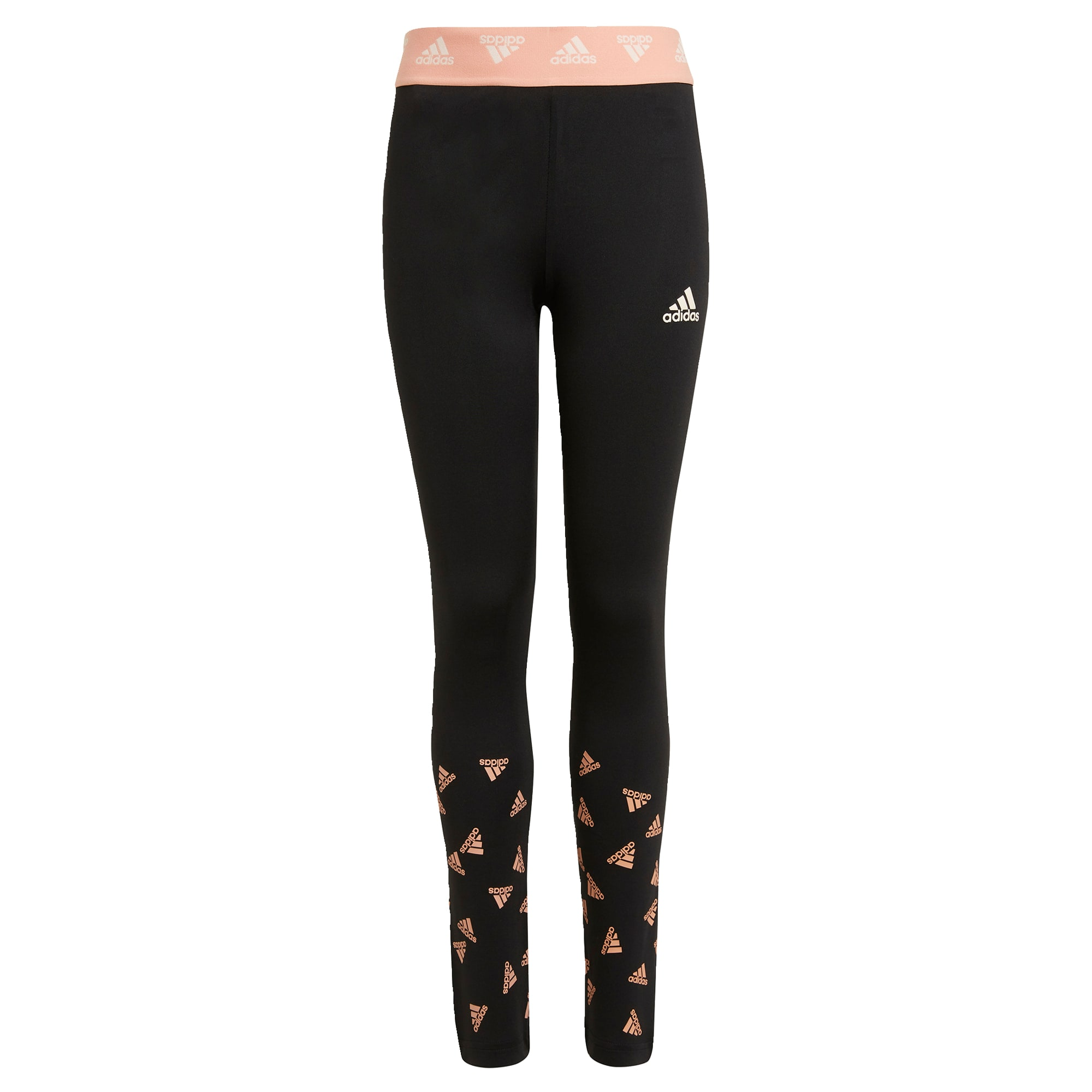 ADIDAS PERFORMANCE Sportinės kelnės juoda / abrikosų spalva / balta