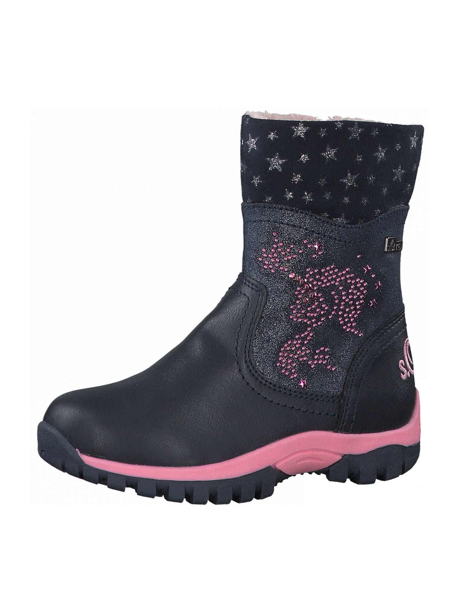 s.Oliver Junior Sniego batai tamsiai mėlyna / rožinė
