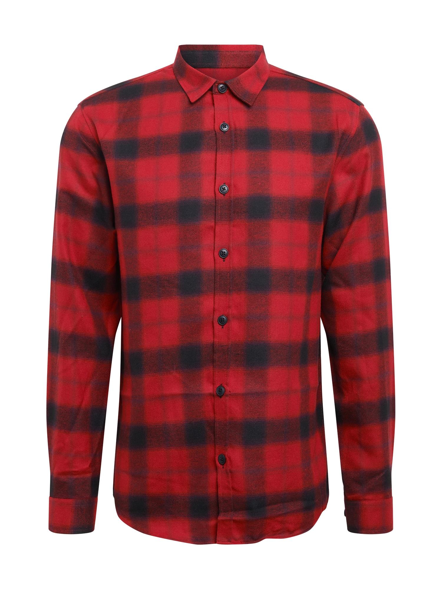 River Island Košile  červená / námořnická modř