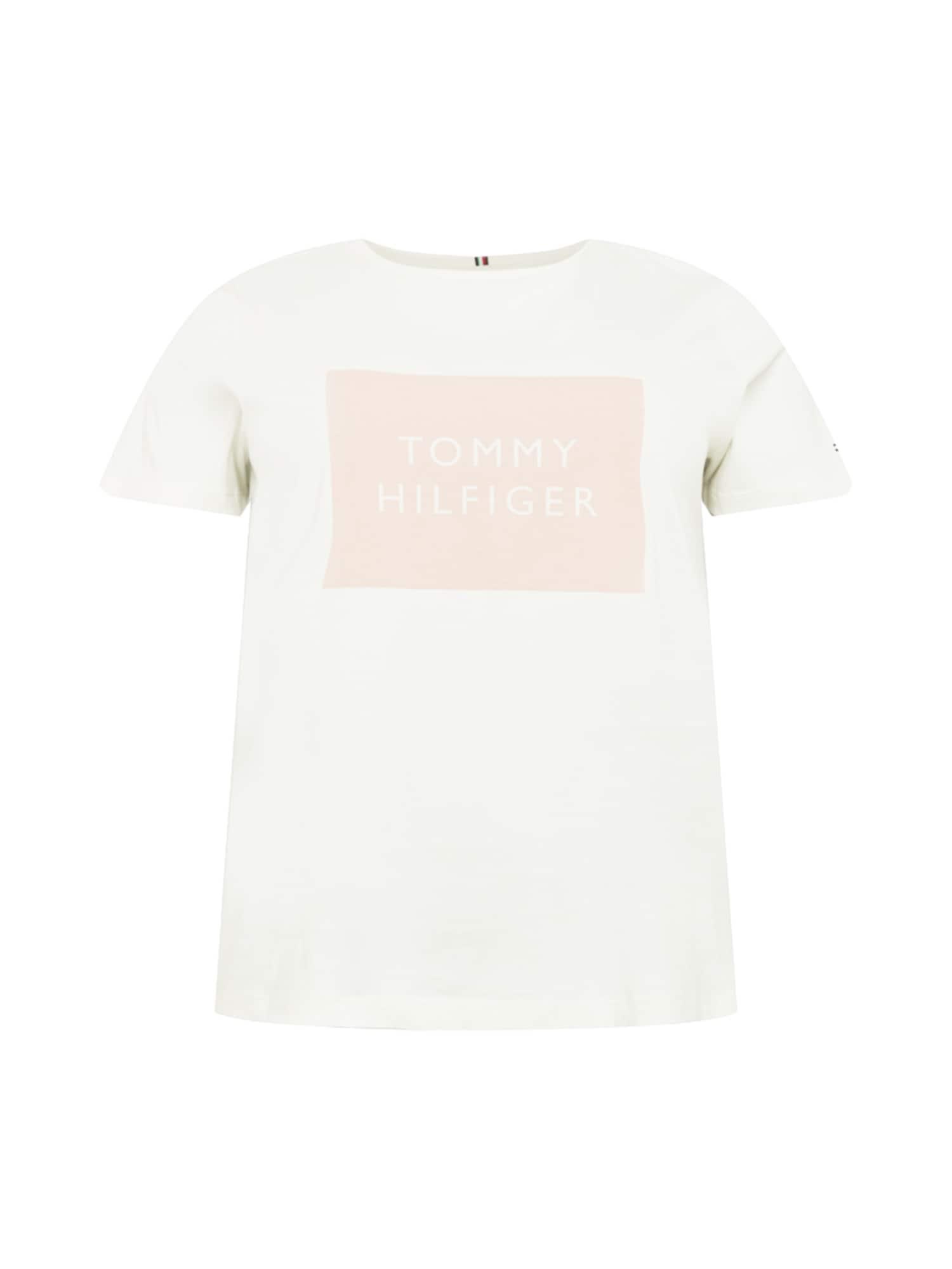 Tommy Hilfiger Curve Marškinėliai natūrali balta / pastelinė rožinė