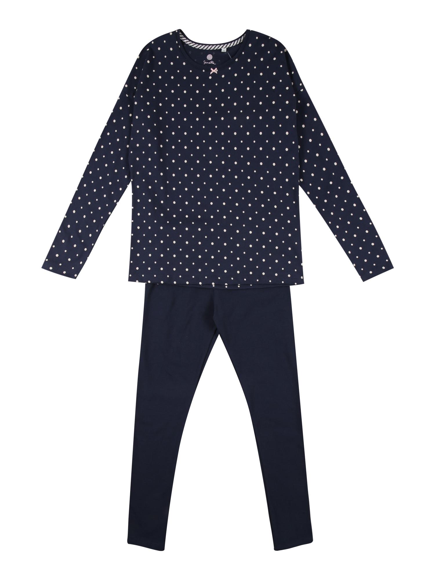 SANETTA Miego kostiumas tamsiai mėlyna / balta
