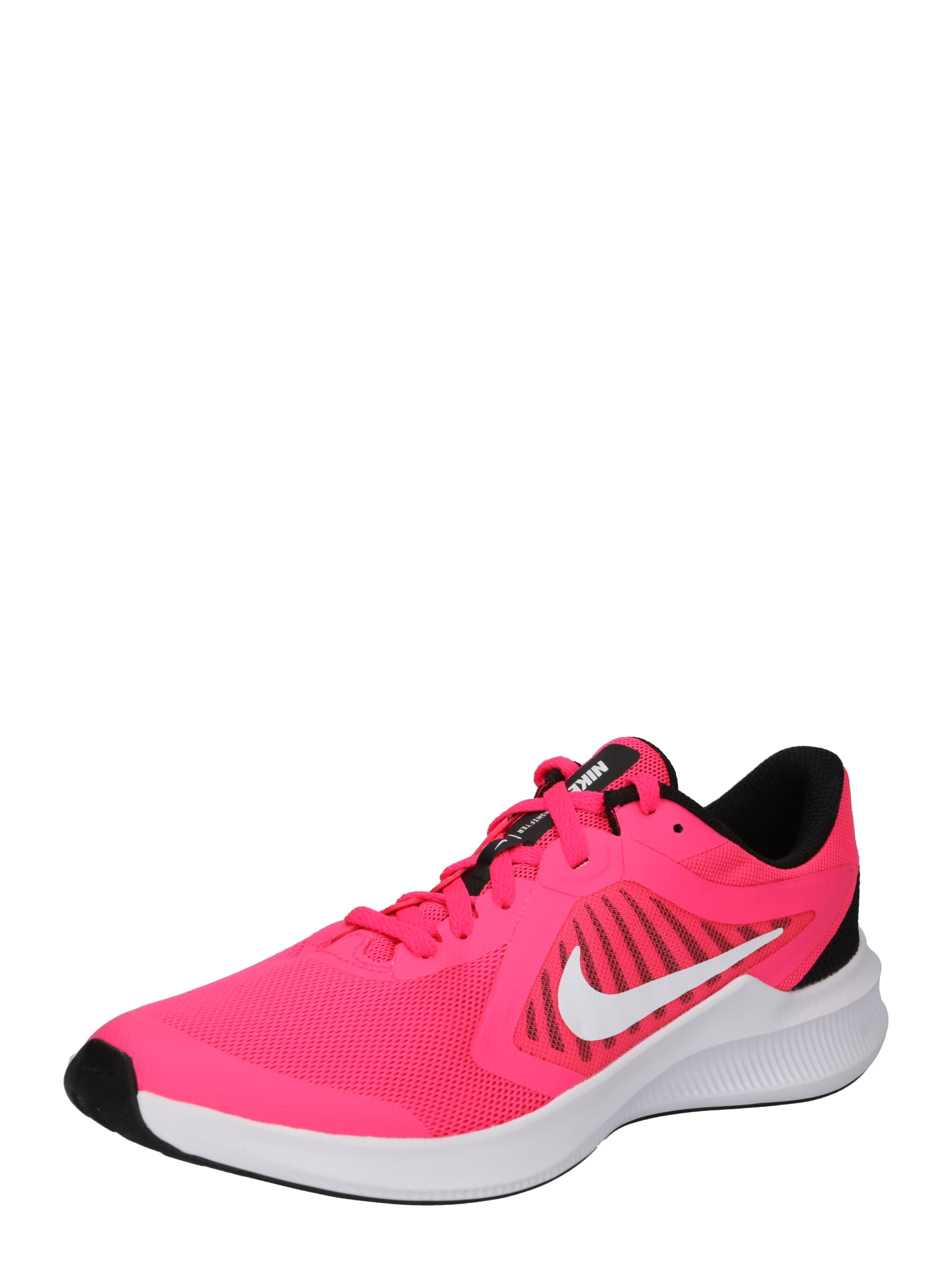 NIKE Sportiniai batai 'DOWNSHIFTER 10' juoda / tamsiai rožinė / balta