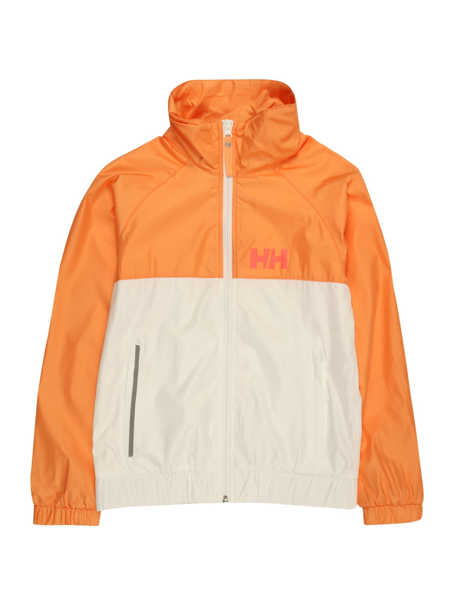 HELLY HANSEN Laisvalaikio striukė balta / oranžinė