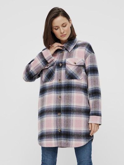 Pieces Phoebe Long Checked Shacket