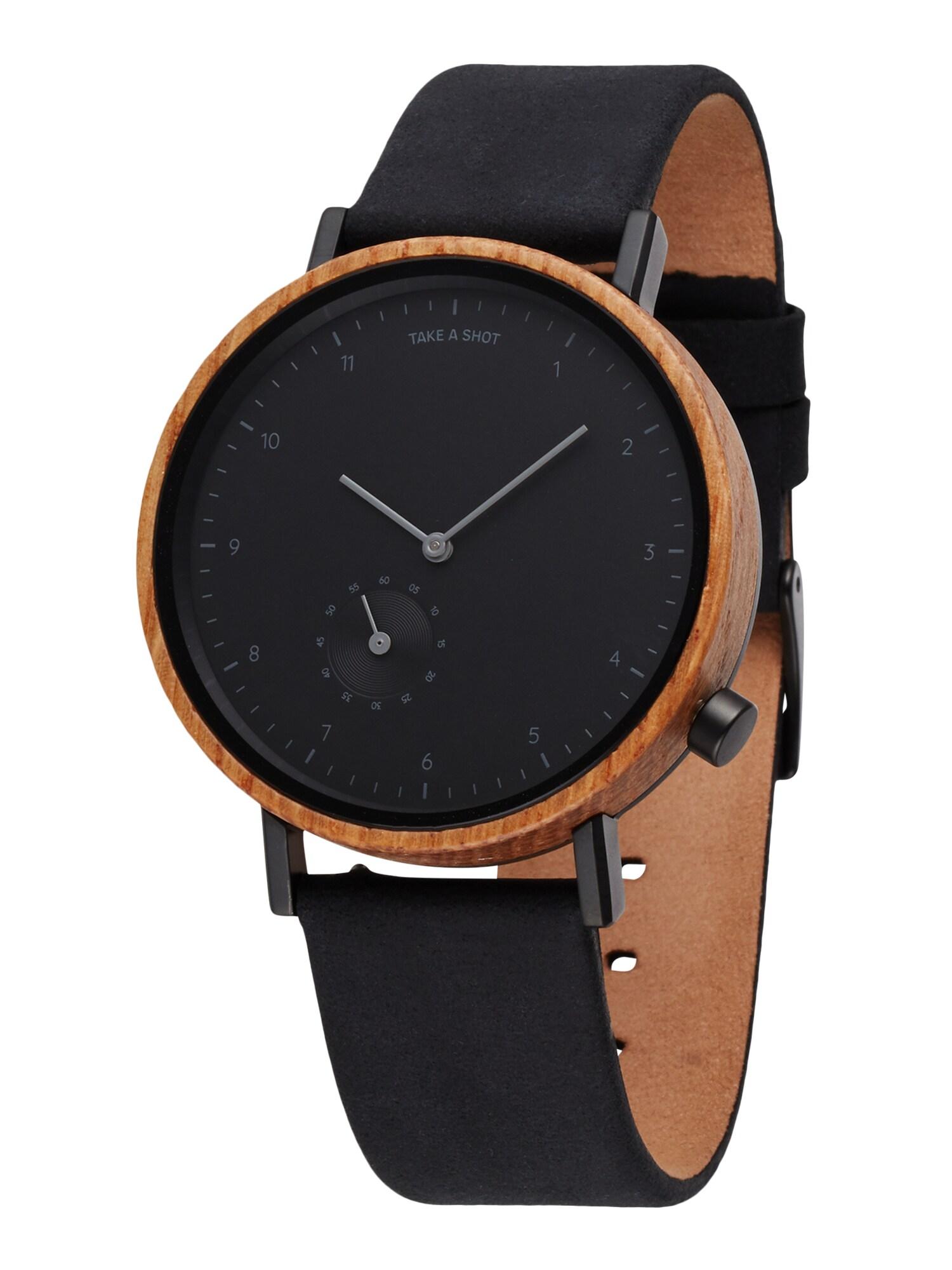 TAKE A SHOT Analoginis (įprasto dizaino) laikrodis ruda / juoda