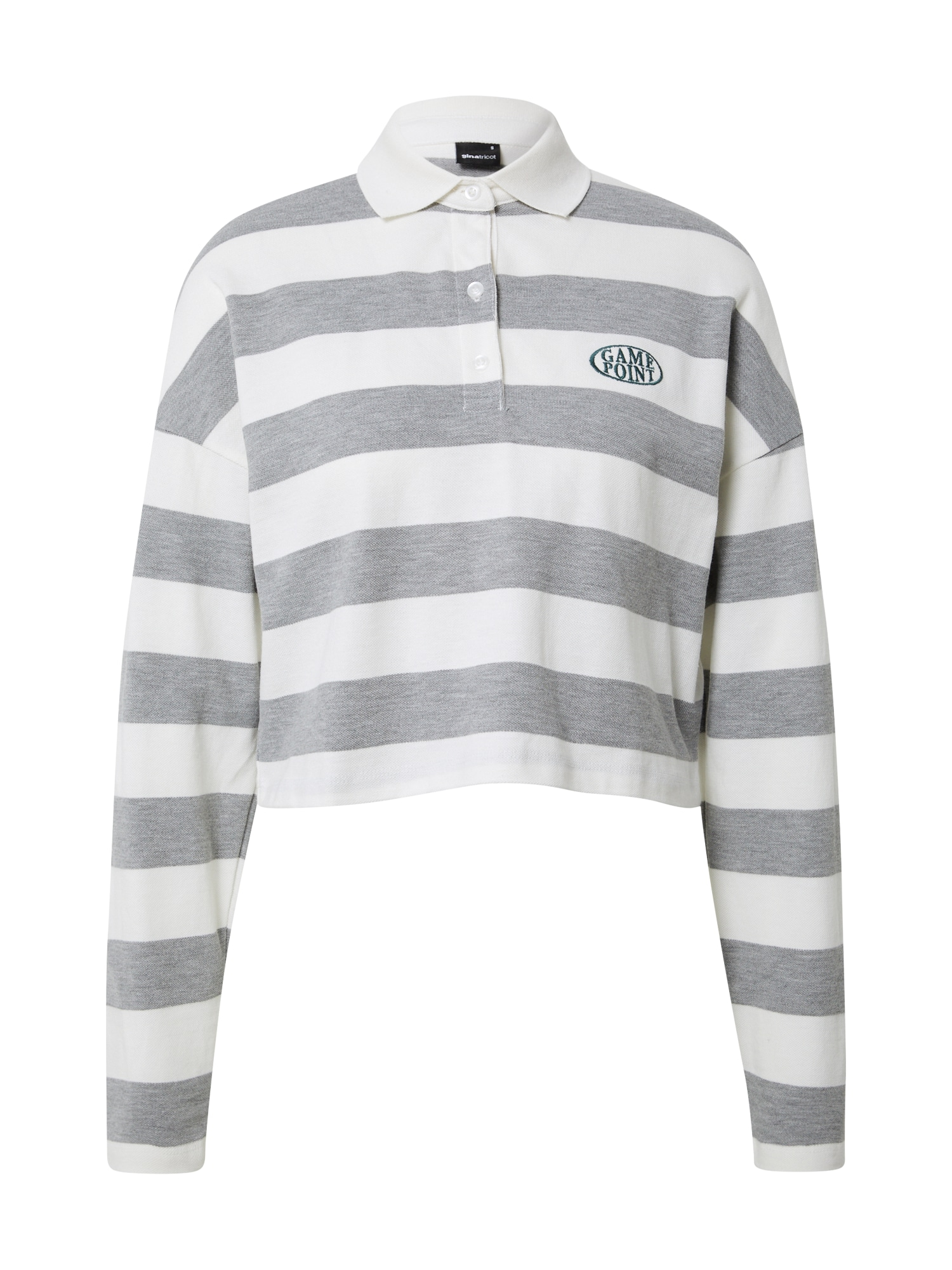 Gina Tricot Marškinėliai 'Macy' balta / pilka