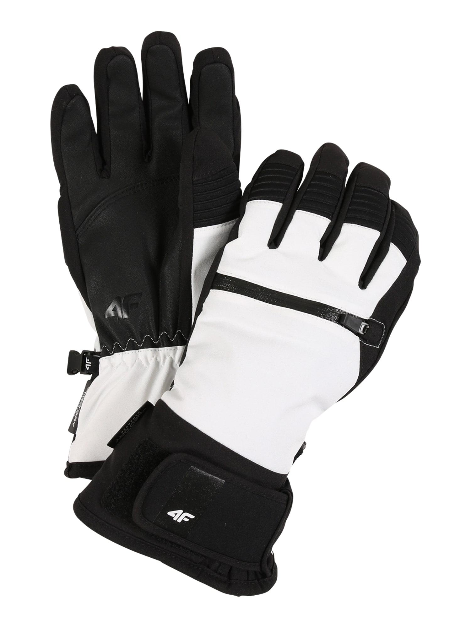 4F Sportinės pirštinės balta / juoda