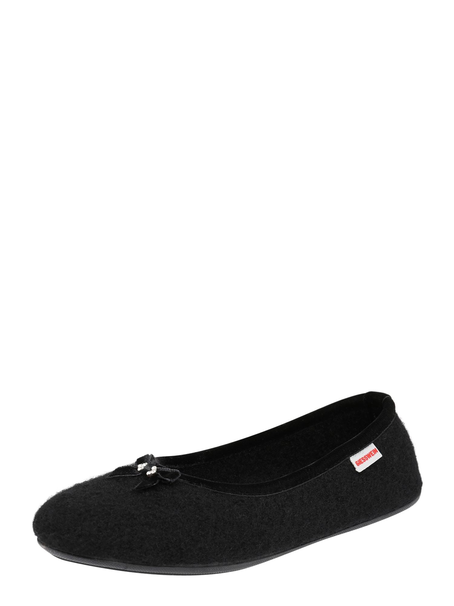 GIESSWEIN Pantofle  černá