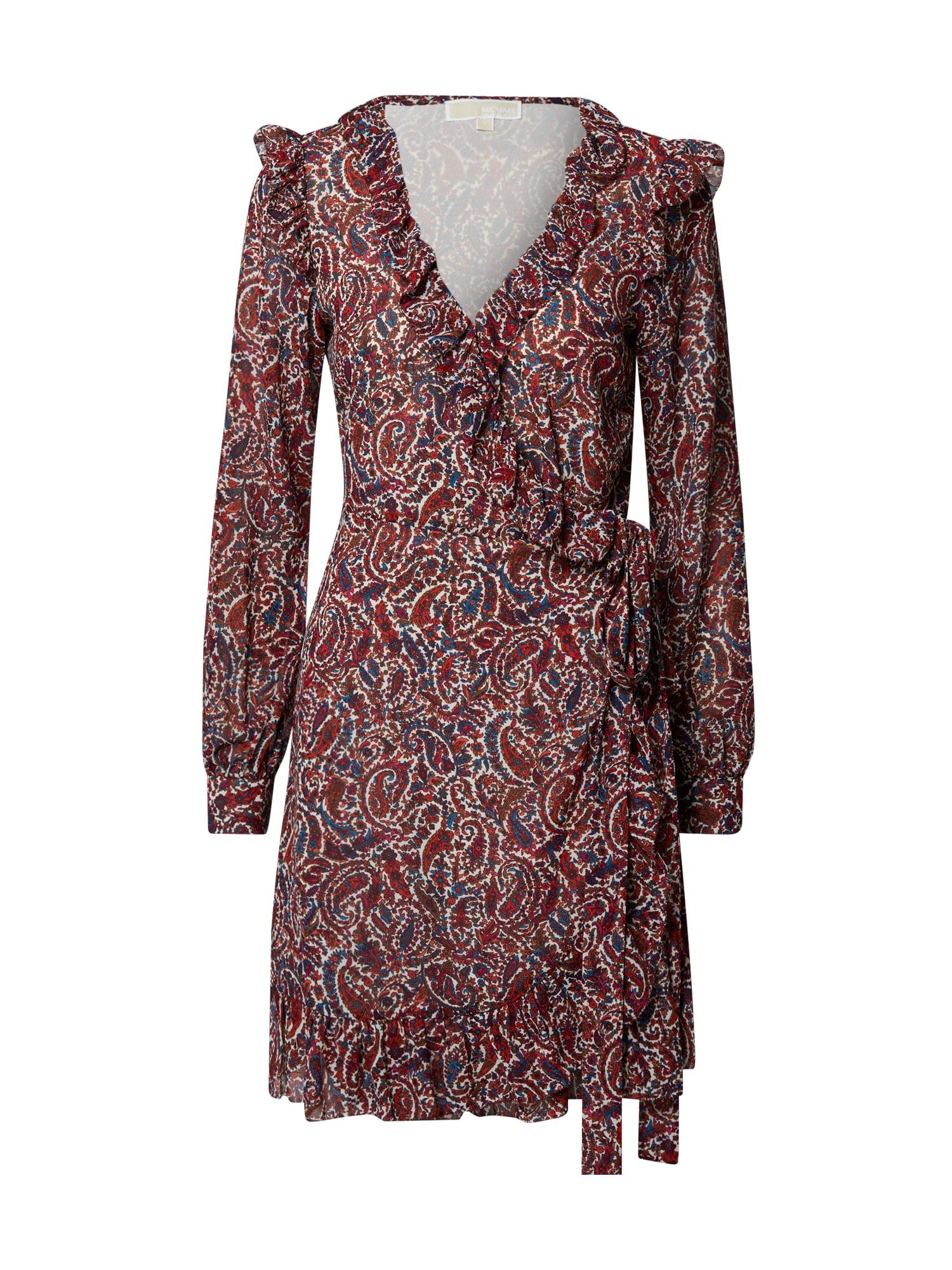 MICHAEL Michael Kors Suknelė vyno raudona spalva / melionų spalva / balta / dangaus žydra / mišrios spalvos