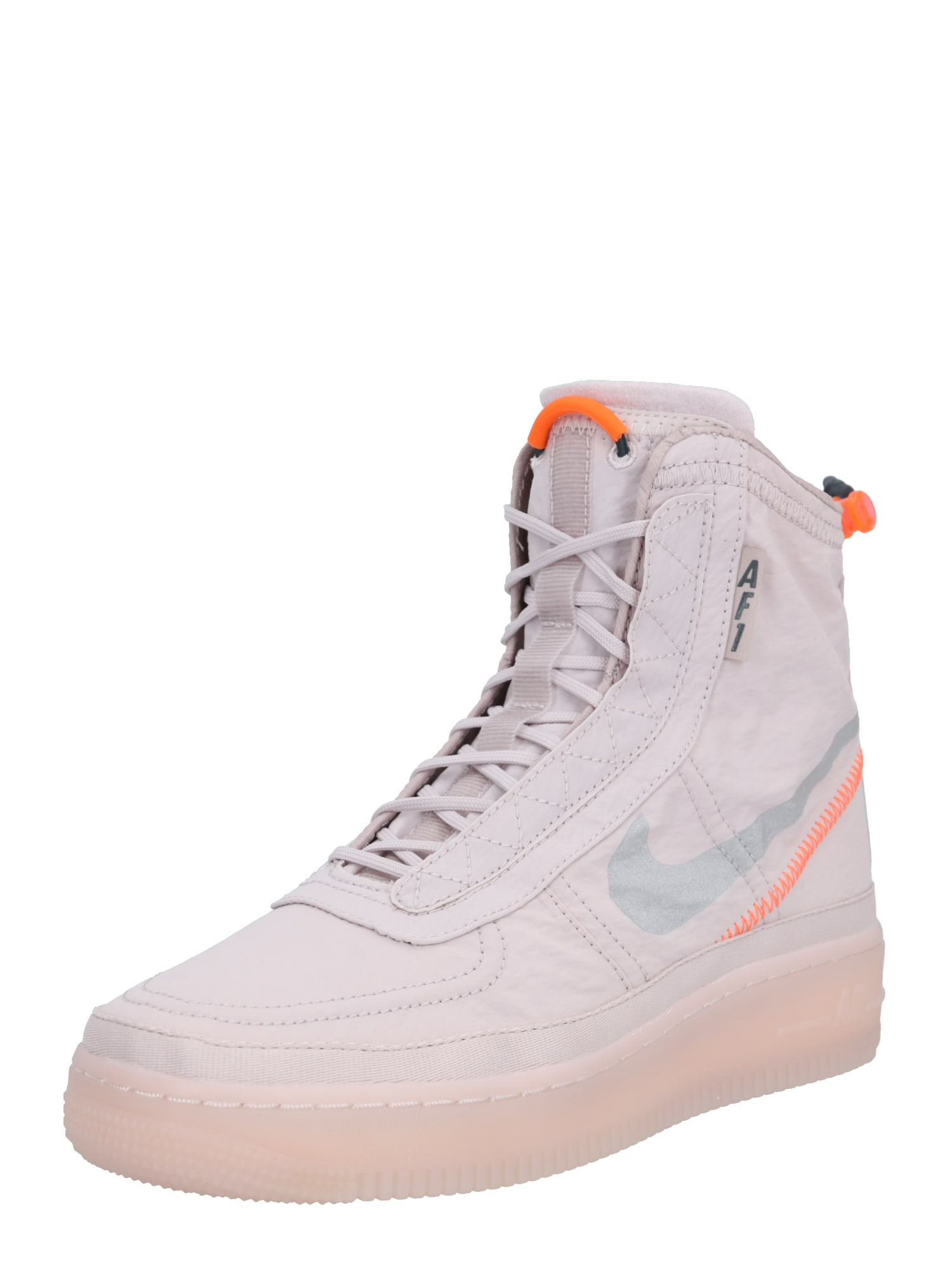 Nike Sportswear Kotníkové tenisky 'Air Force 1 Shell'  lenvandulová / svítivě oranžová