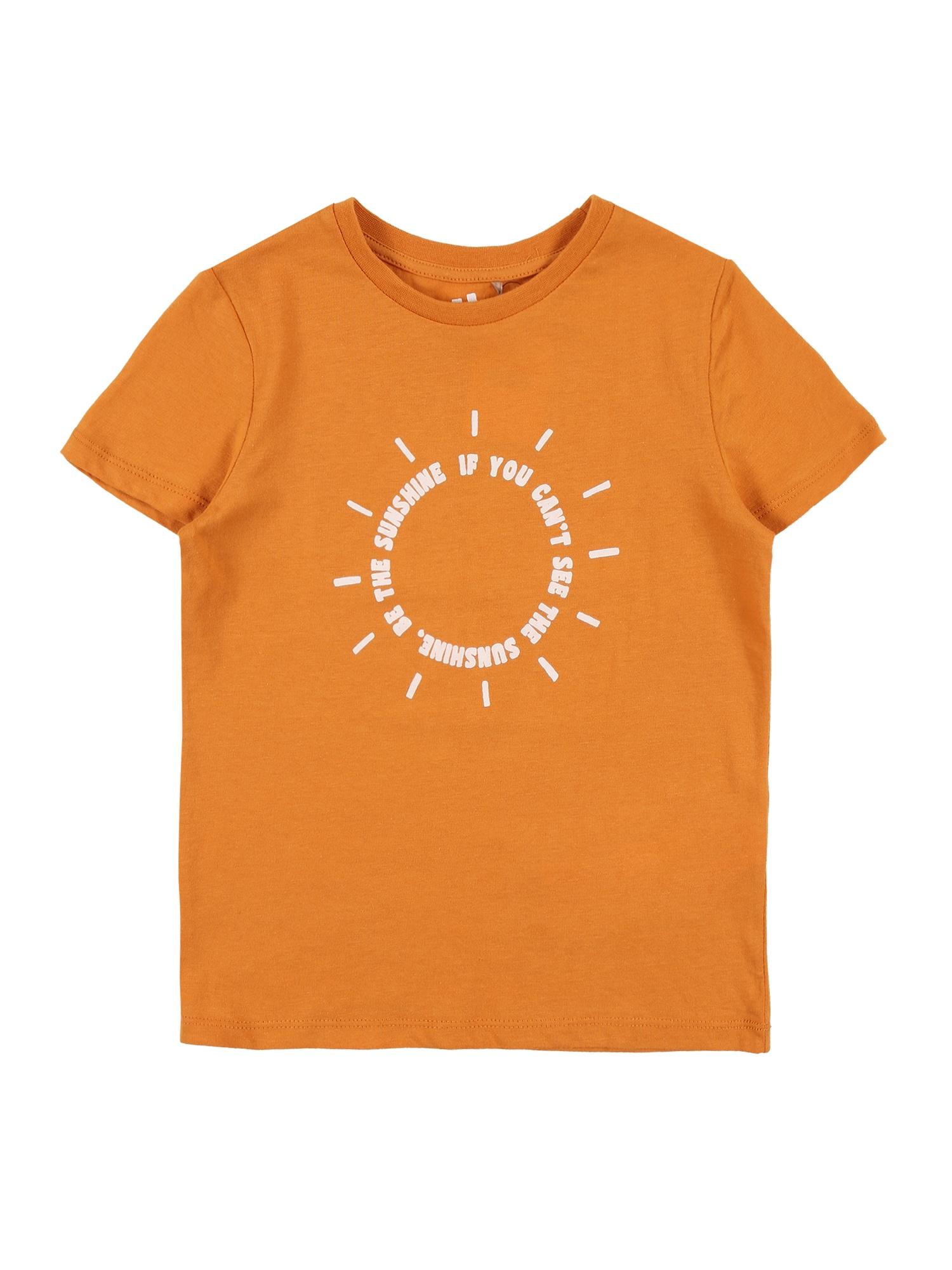 Cotton On Marškinėliai 'Penelope' oranžinė / balta