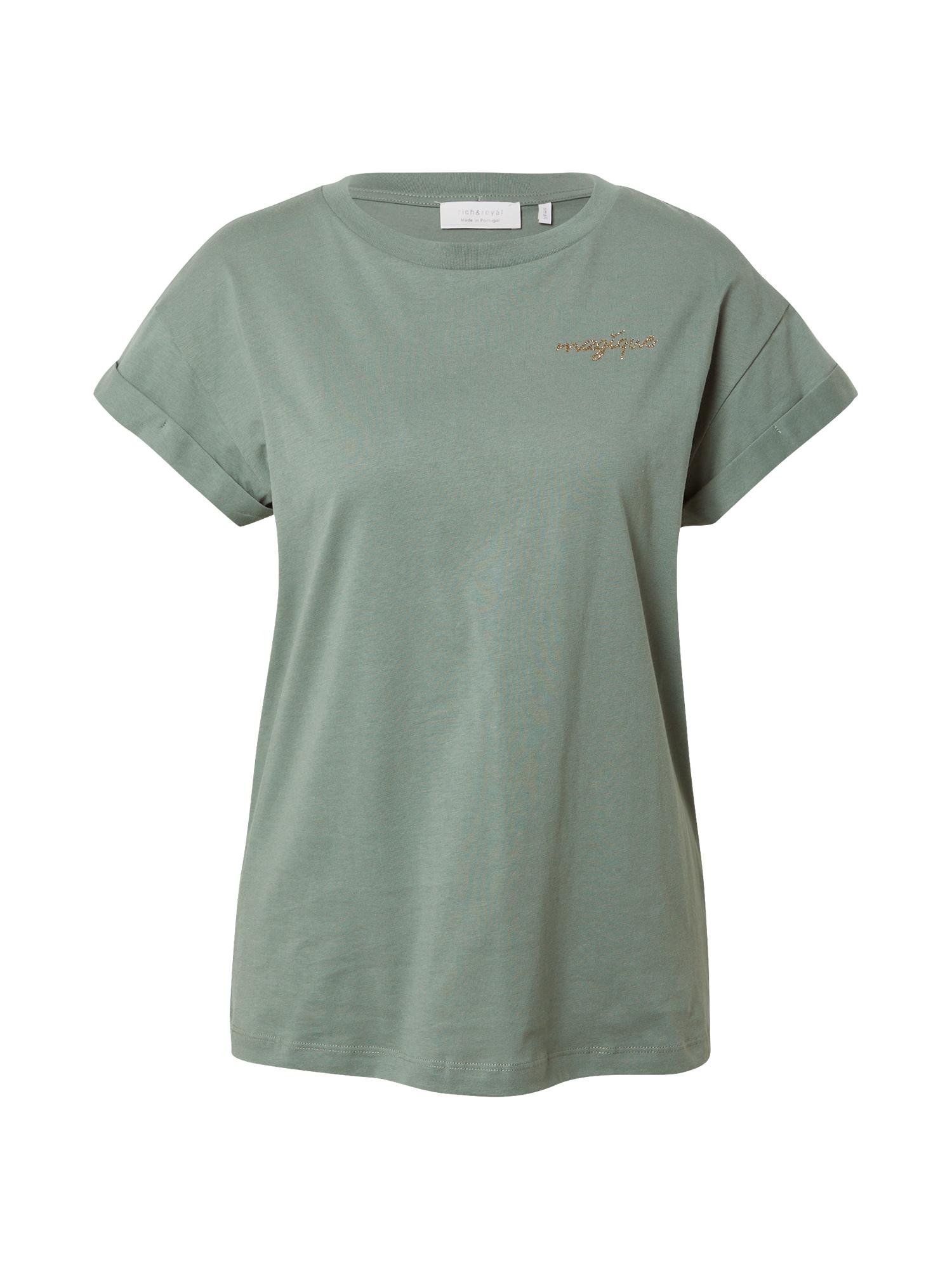 Rich & Royal Marškinėliai pastelinė žalia