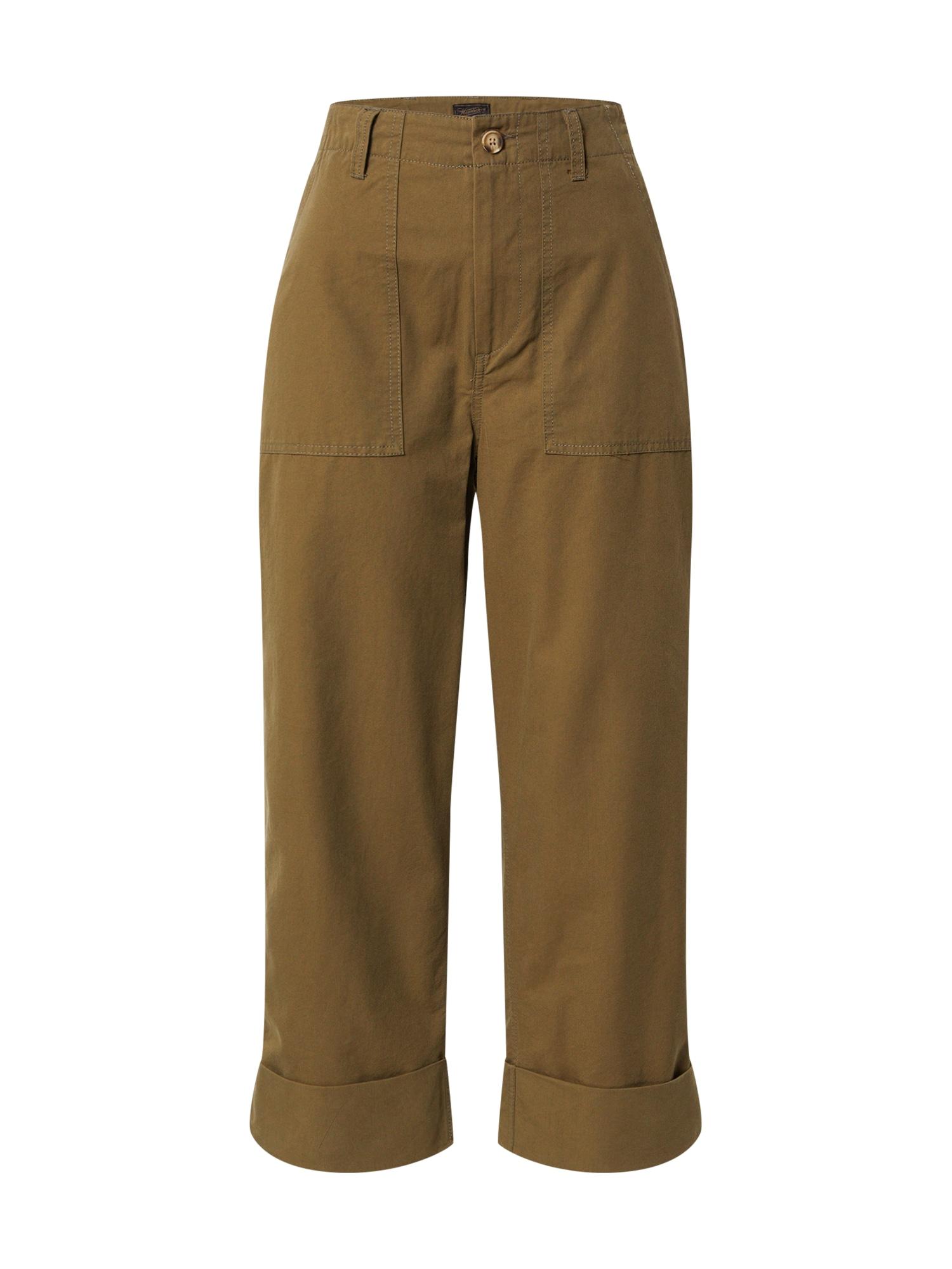 Herrlicher Laisvo stiliaus kelnės 'Nana' alyvuogių spalva