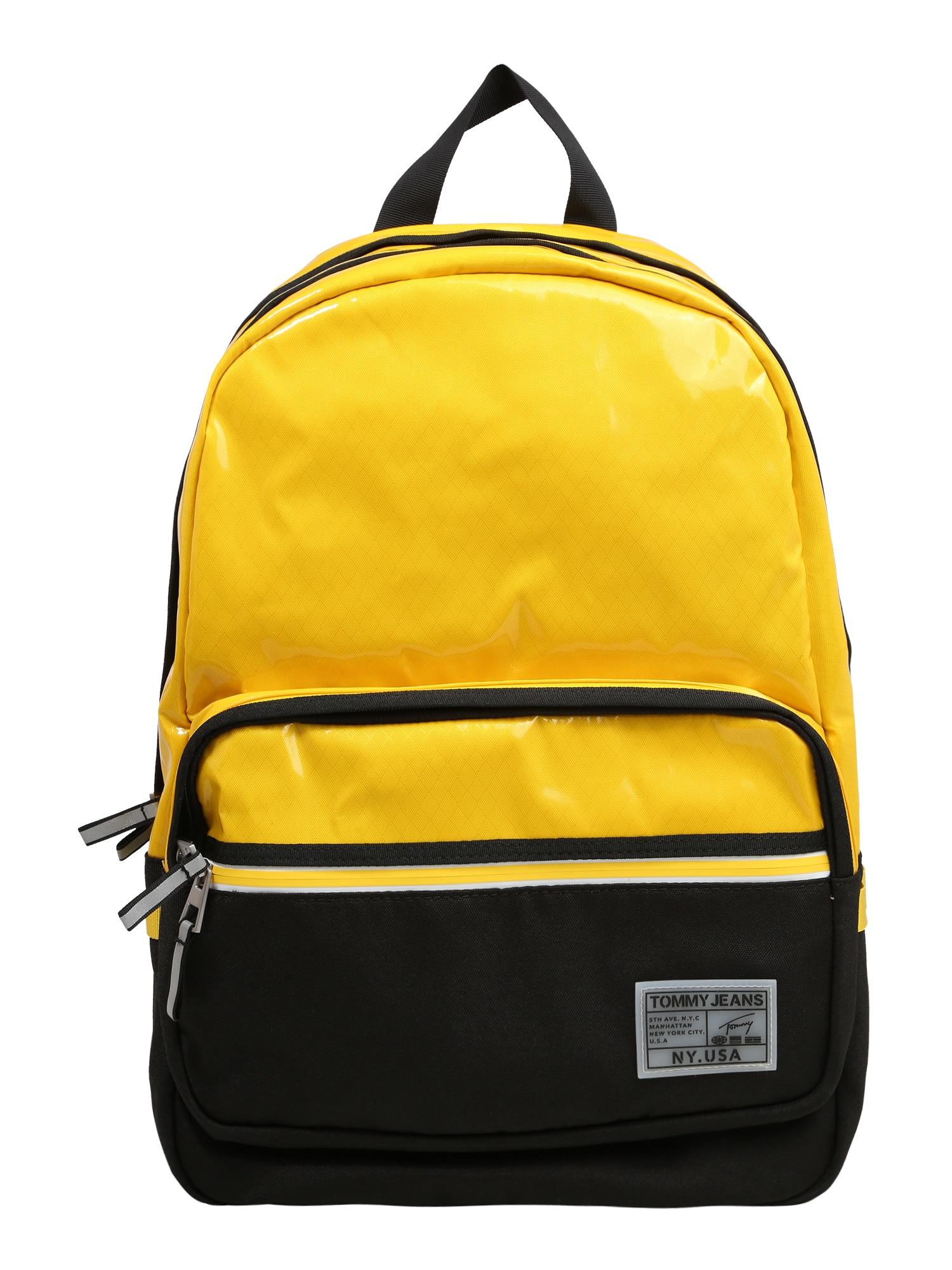 Tommy Jeans Batoh 'College'  černá / žlutá
