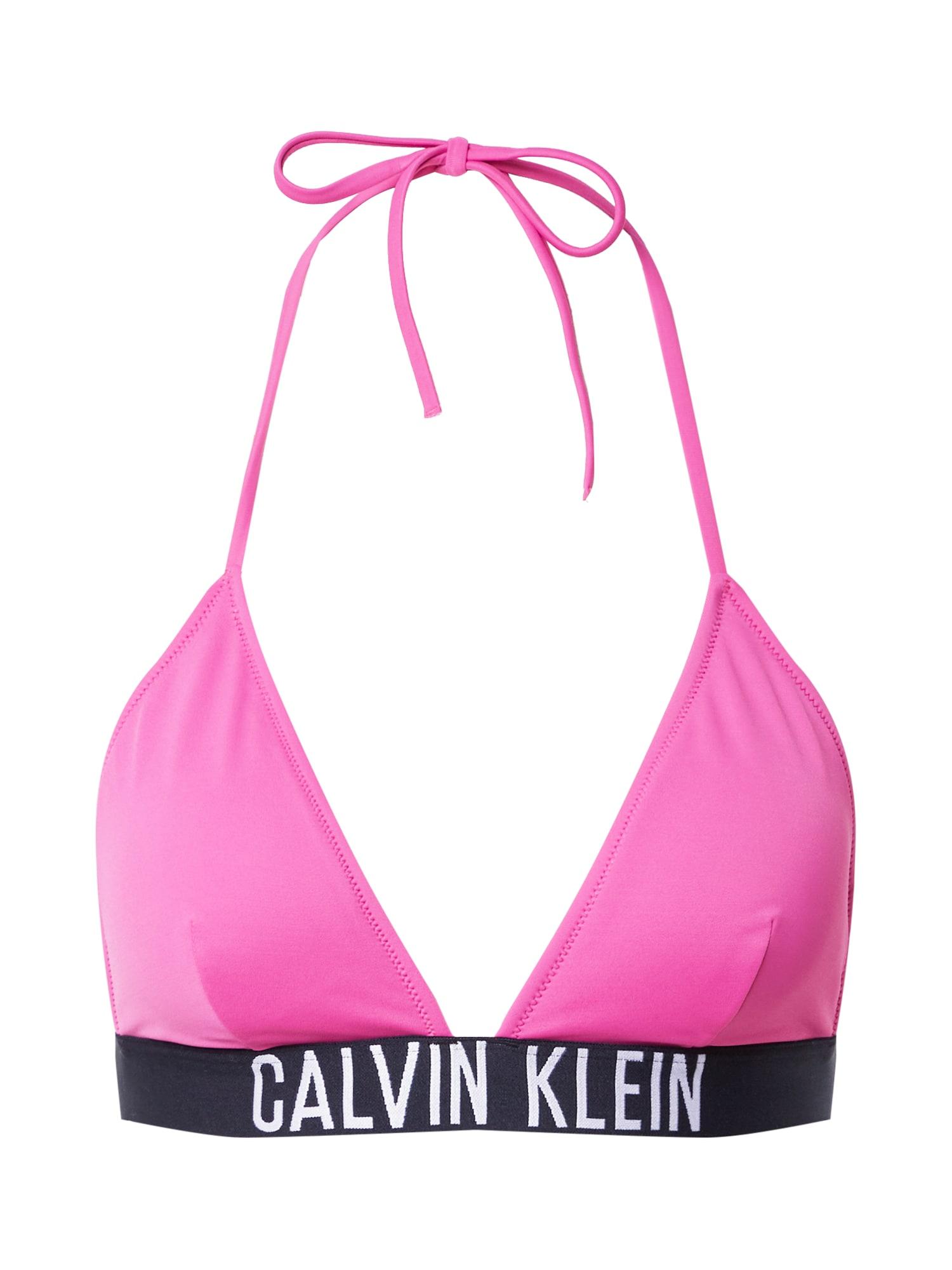Calvin Klein Swimwear Bikinio viršutinė dalis juoda / balta / rožinė