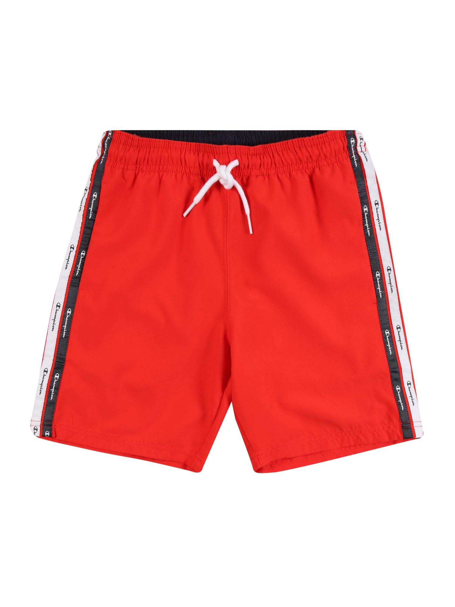 Champion Authentic Athletic Apparel Maudymosi trumpikės raudona / juoda / balta